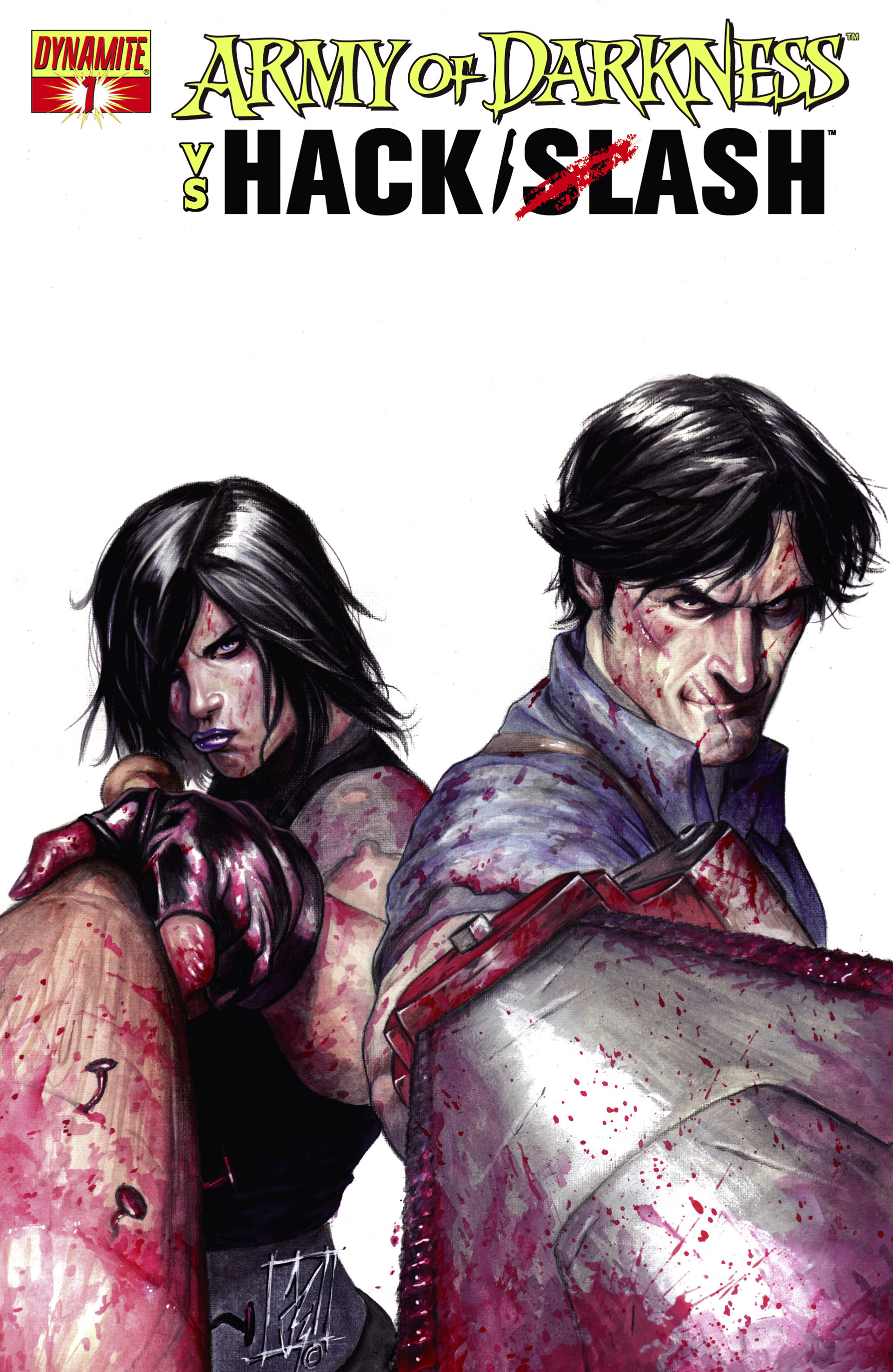 Read online Army of Darkness vs. Hack/Slash comic -  Issue #1 - 1