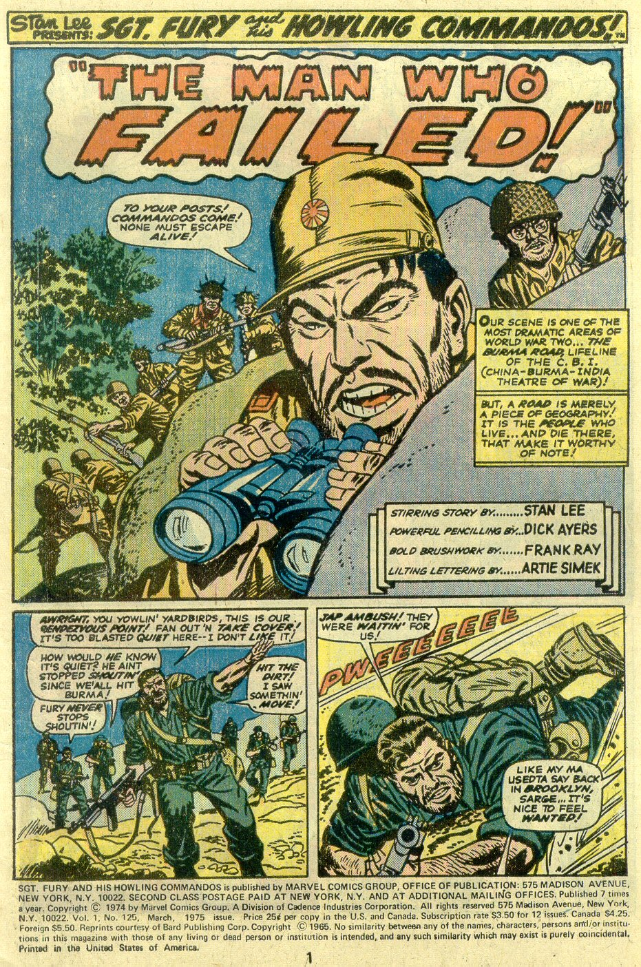 Read online Sgt. Fury comic -  Issue #125 - 3