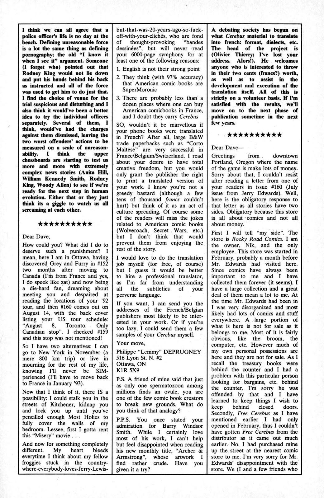 Cerebus Issue #163 #162 - English 24