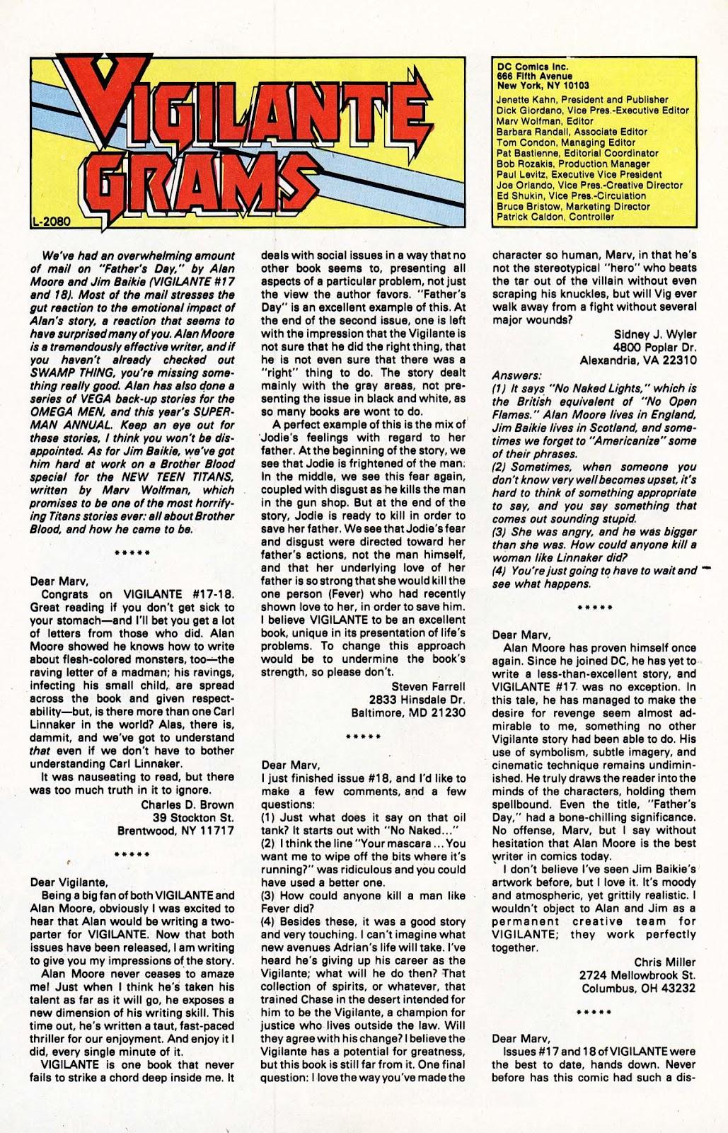 Vigilante (1983) issue 22 - Page 25