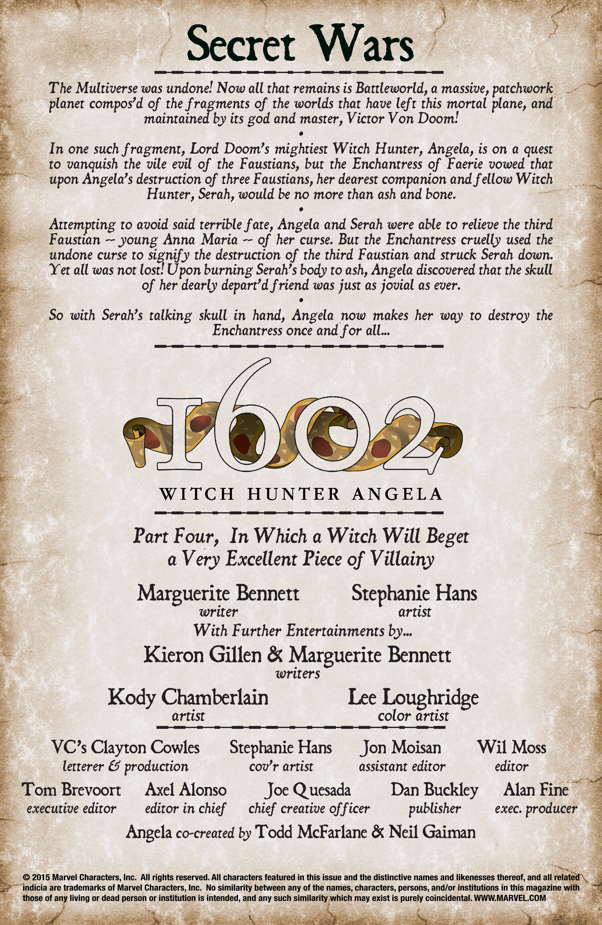Read online 1602 Witch Hunter Angela comic -  Issue #4 - 2