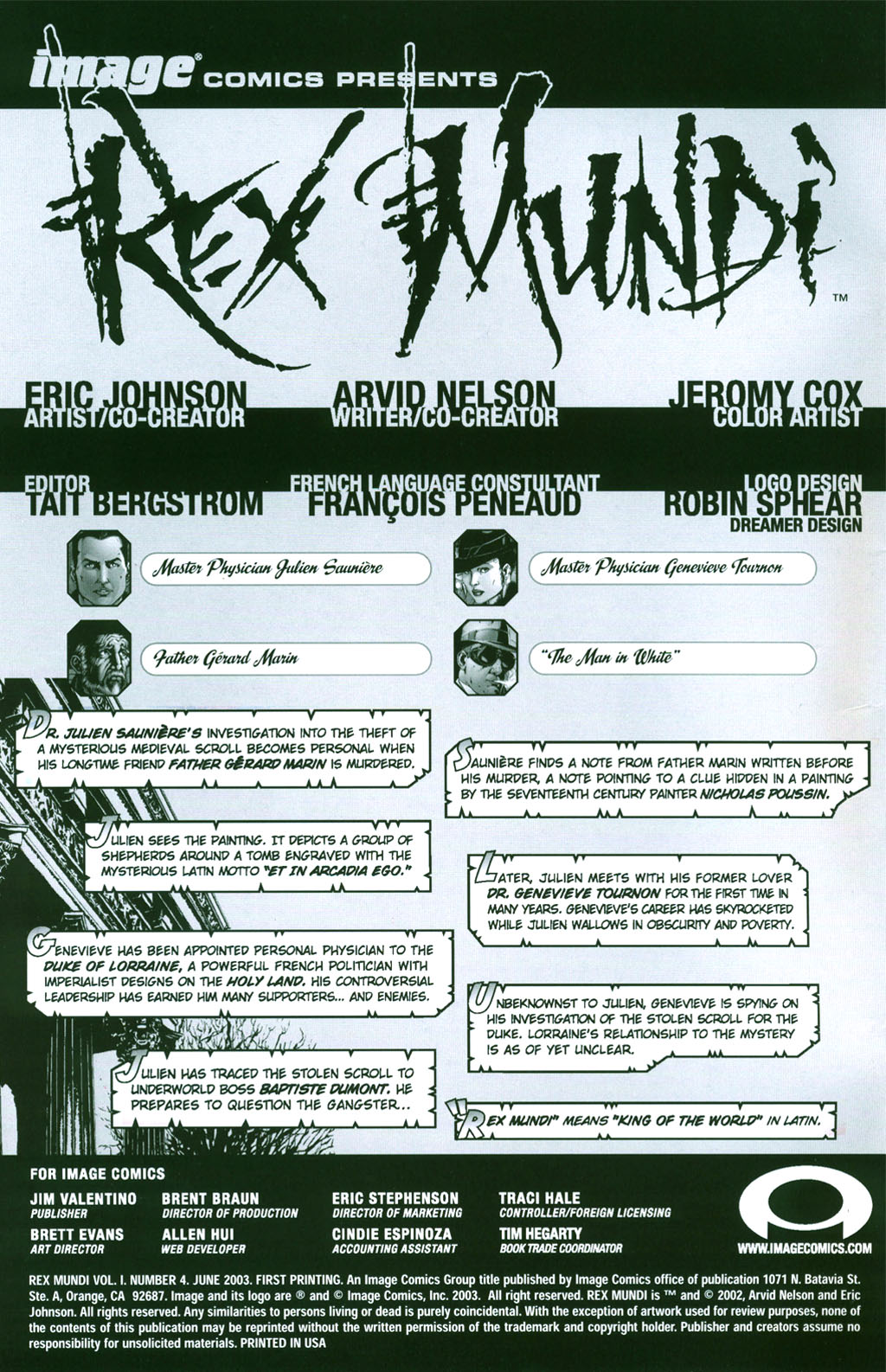Read online Rex Mundi comic -  Issue #4 - 1