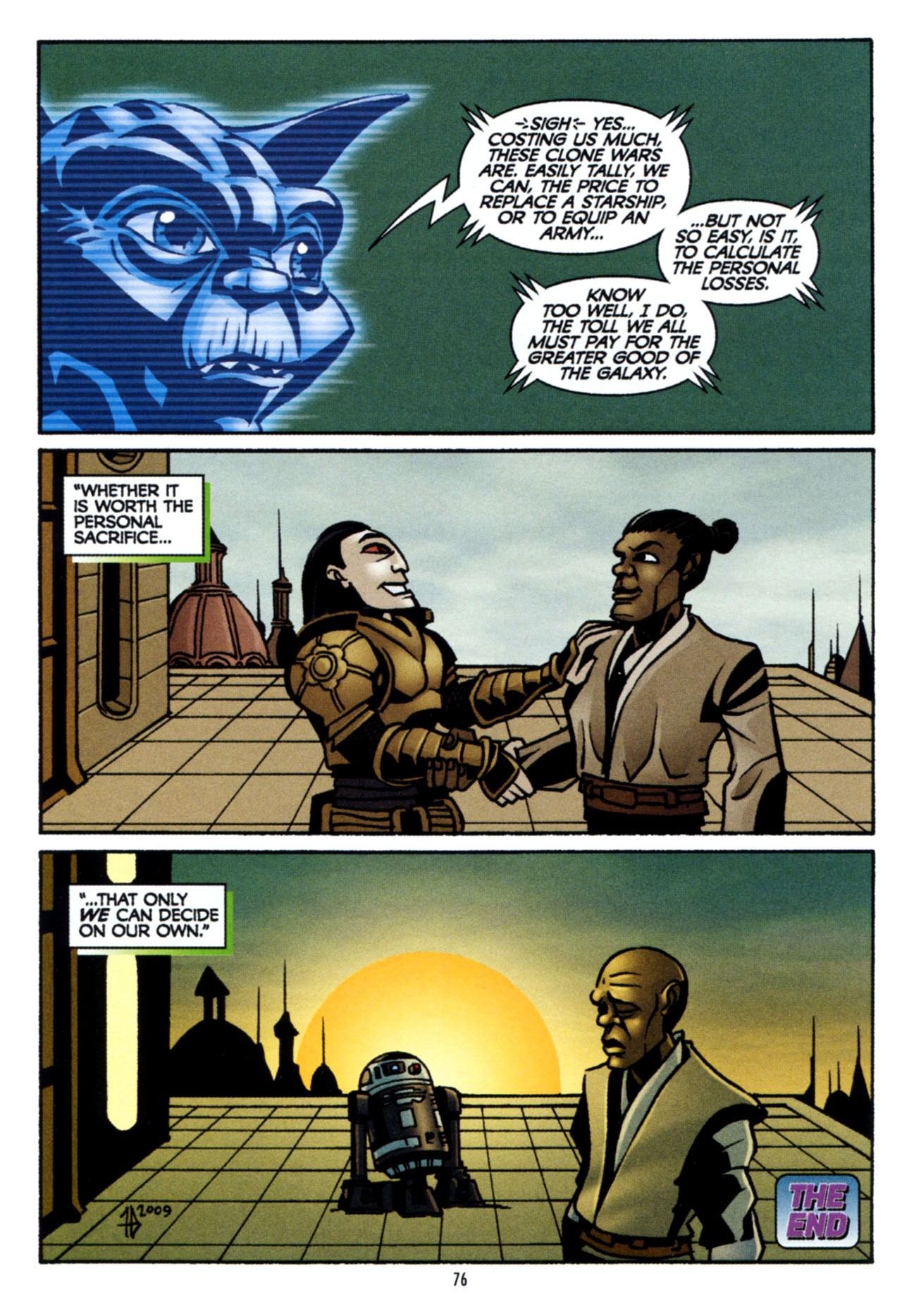 Read online Star Wars: The Clone Wars - The Colossus of Destiny comic -  Issue # Full - 76