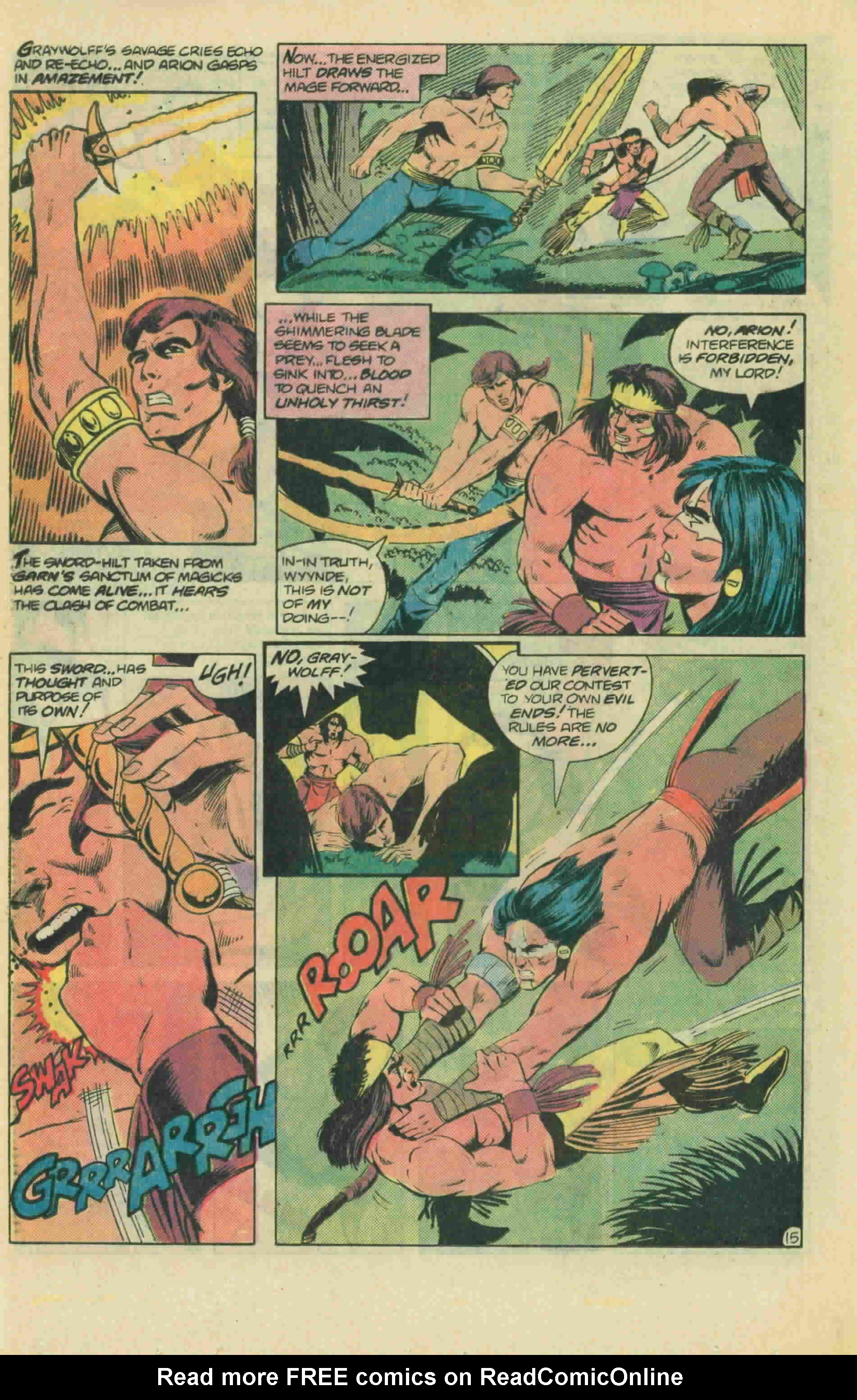 Read online Arion, Lord of Atlantis comic -  Issue #13 - 21