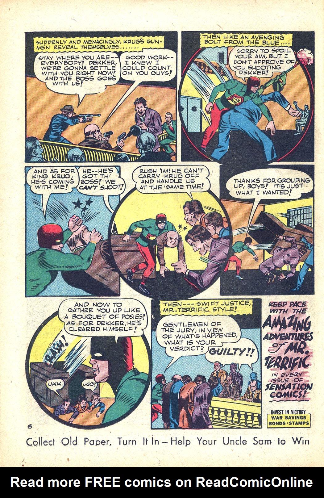 Read online Sensation (Mystery) Comics comic -  Issue #34 - 38