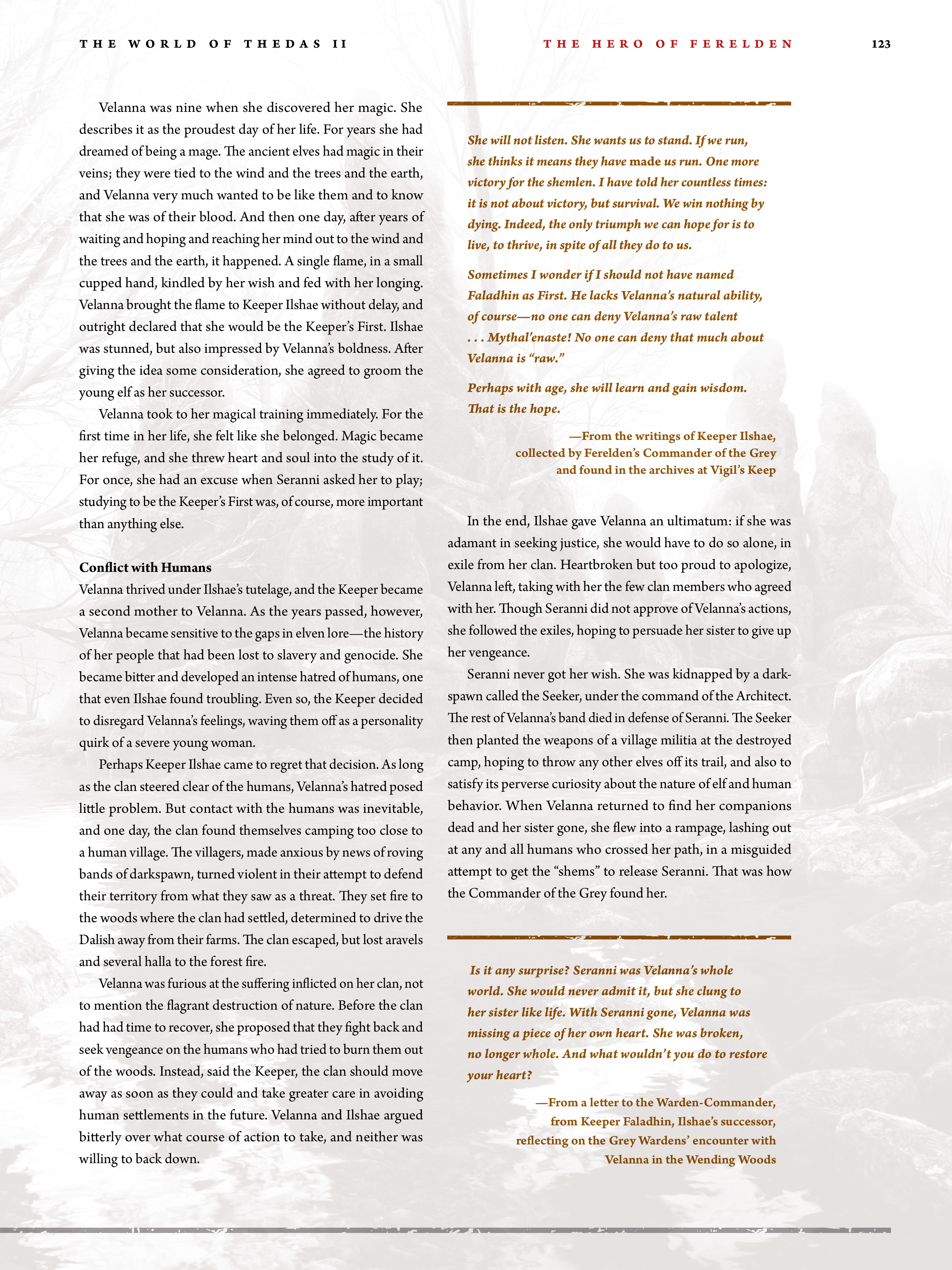 Read online Dragon Age: The World of Thedas comic -  Issue # TPB 2 - 119