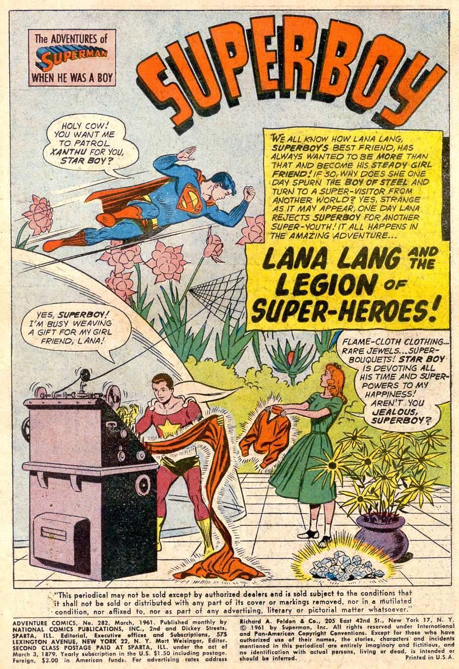 Read online Adventure Comics (1938) comic -  Issue #282 - 3