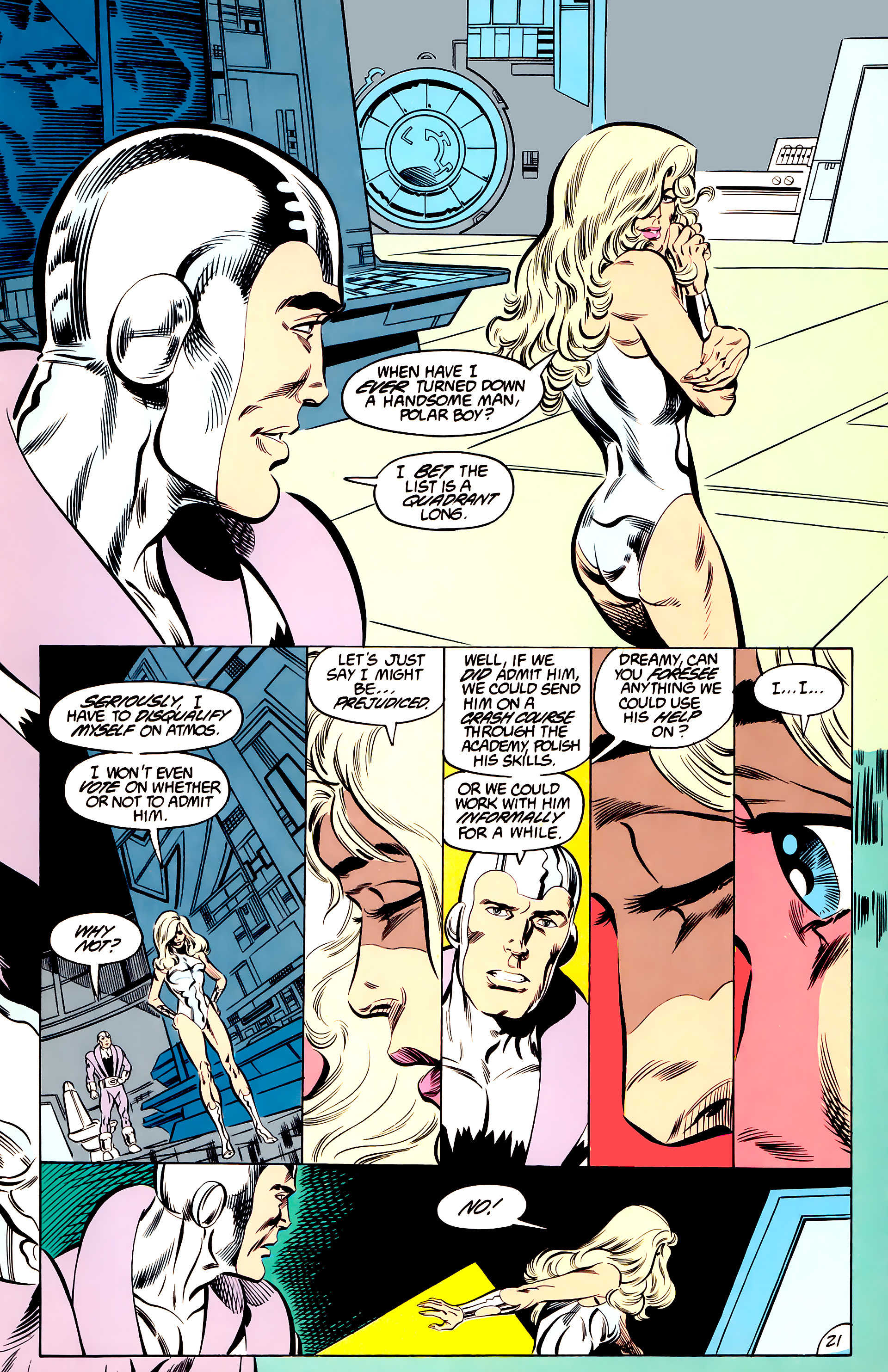 Legion of Super-Heroes (1984) 44 Page 21