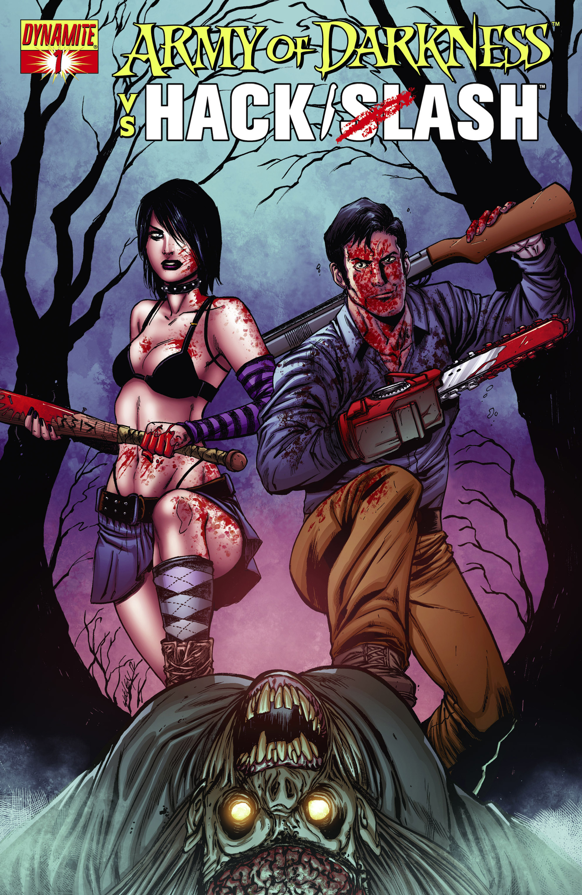 Read online Army of Darkness vs. Hack/Slash comic -  Issue #1 - 2