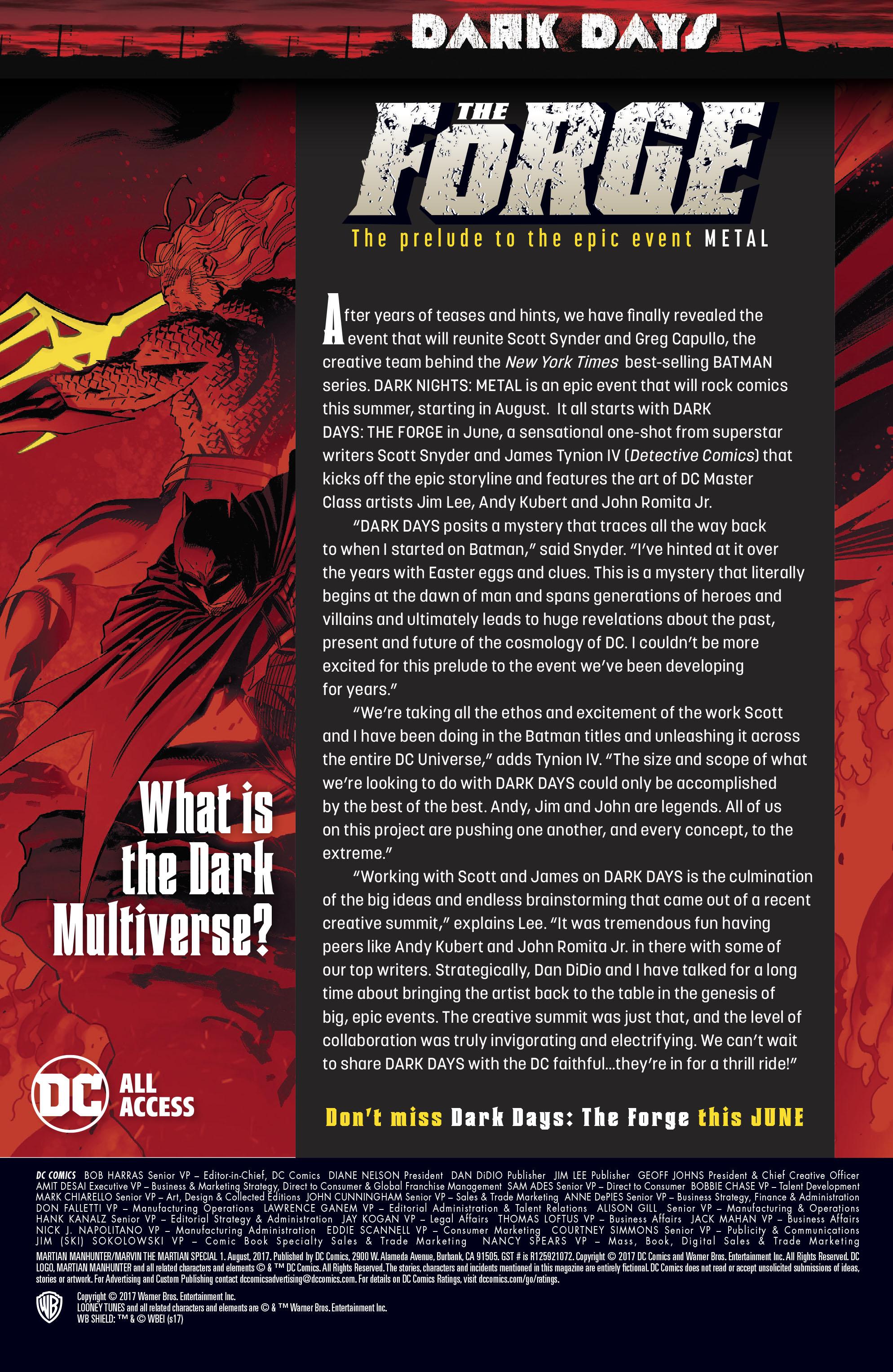 Read online Martian Manhunter/Marvin the Martian Special comic -  Issue # Full - 43