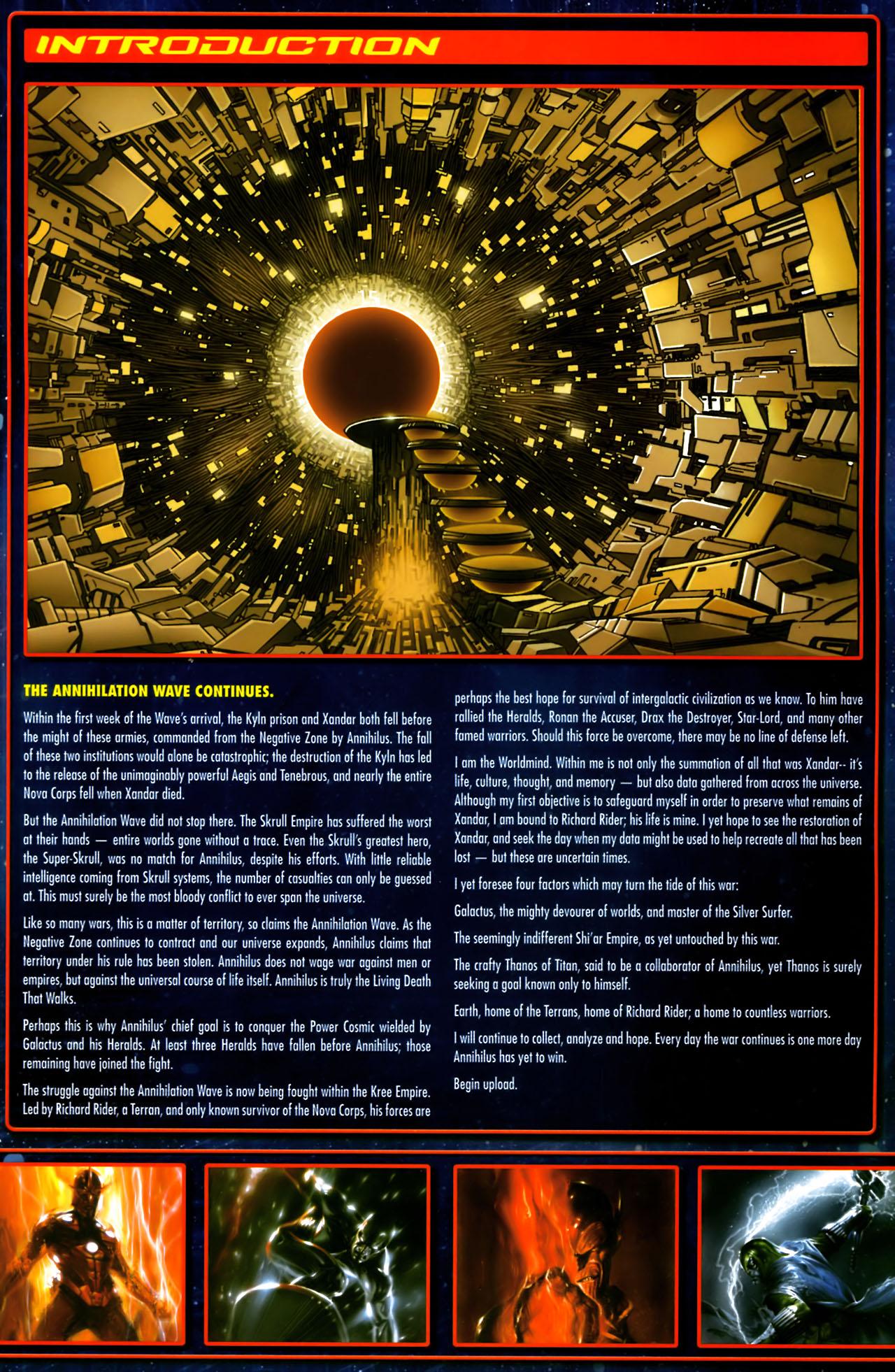 Read online Annihilation:  The  Nova Corps Files comic -  Issue #Annihilation:  The  Nova Corps Files Full - 3