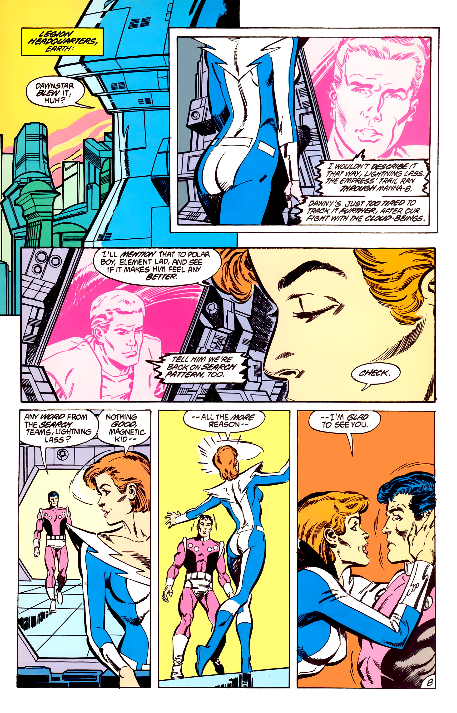 Legion of Super-Heroes (1984) 56 Page 8