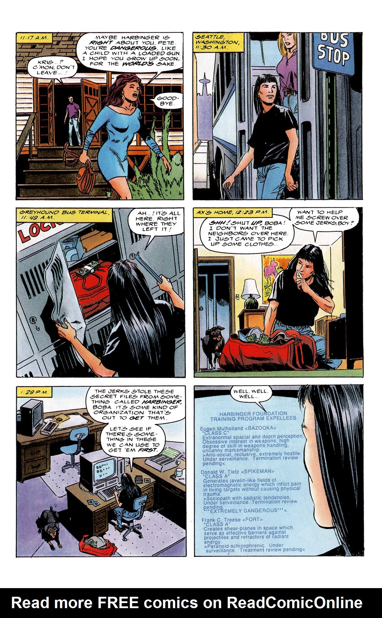 Read online Harbinger (1992) comic -  Issue #4 - 9