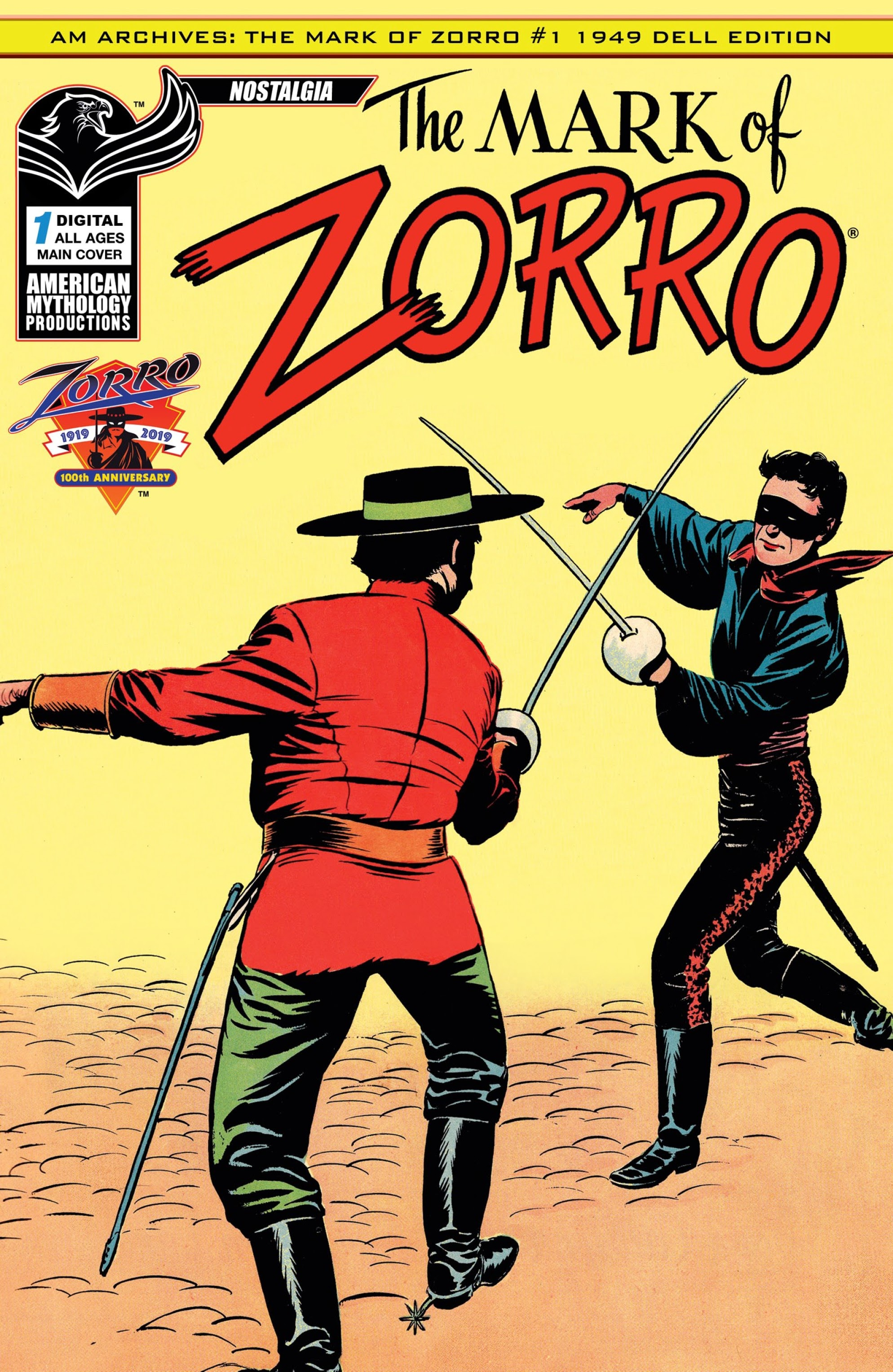 AM Archives: The Mark of Zorro #1 1949 Dell Edition Full Page 1