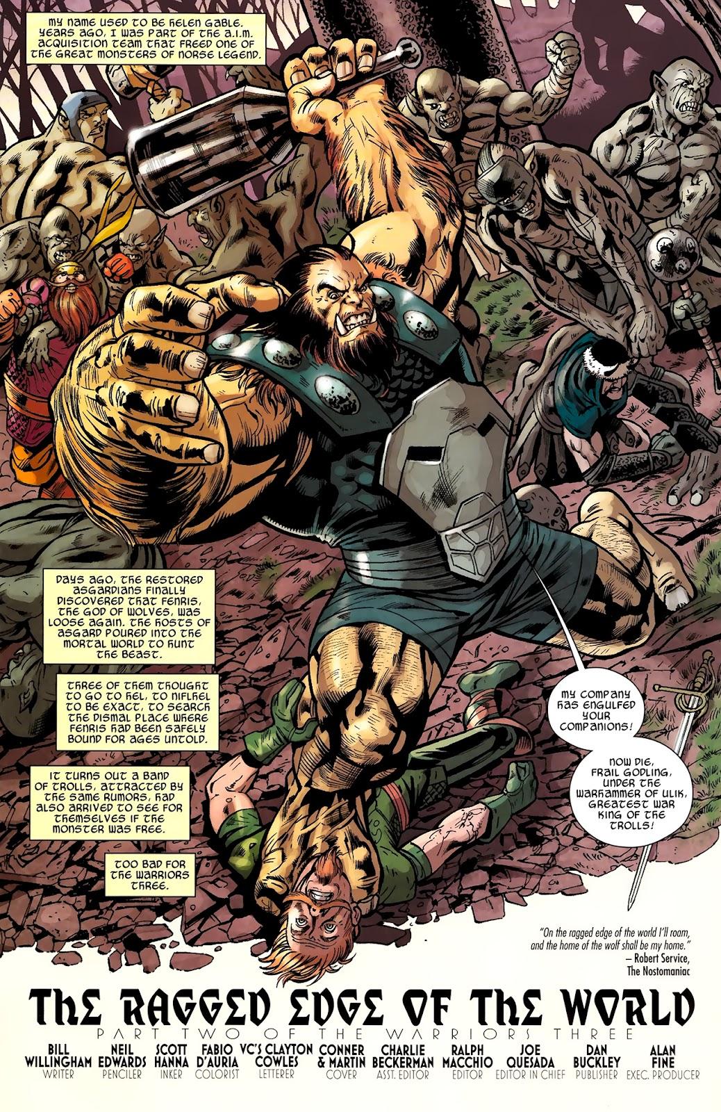 Warriors Three Issue #2 #2 - English 3