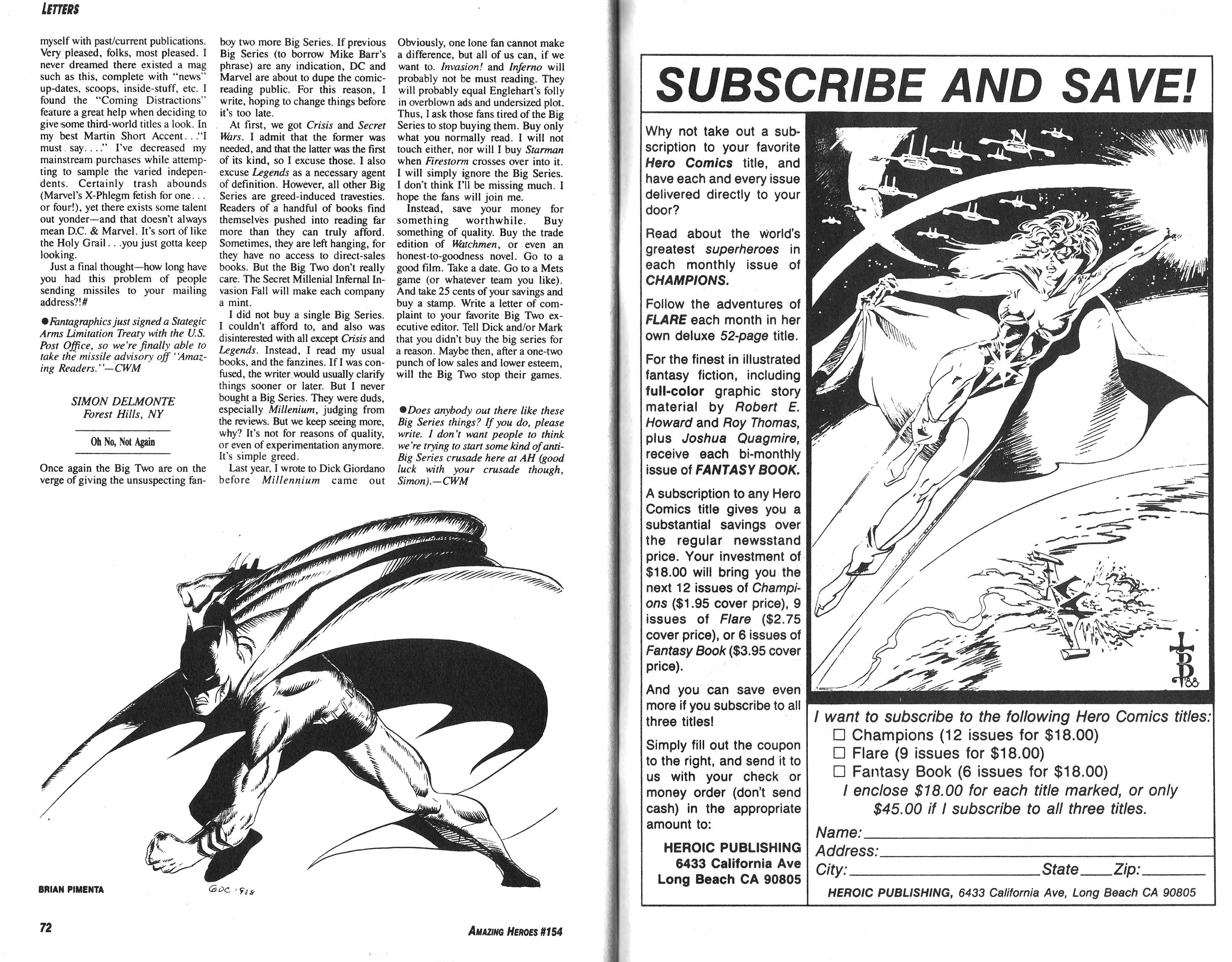 Read online Amazing Heroes comic -  Issue #154 - 37