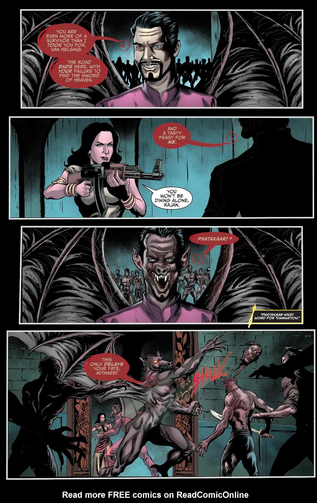 Read online Van Helsing: Sword of Heaven comic -  Issue #6 - 17