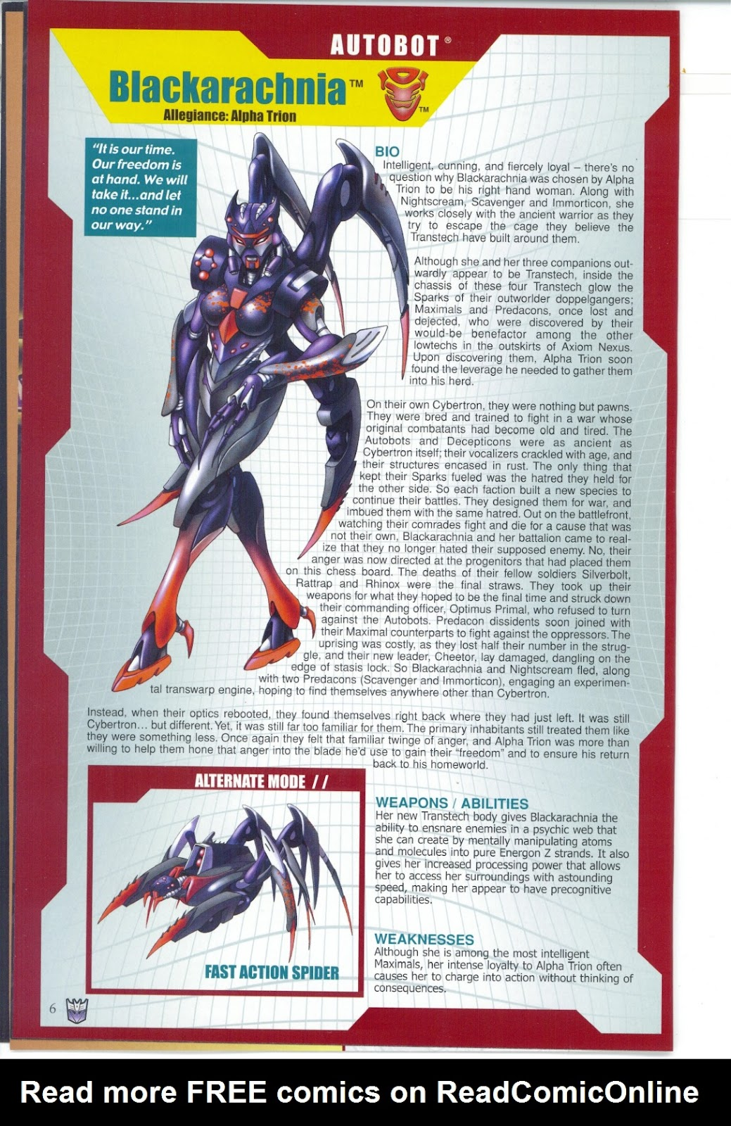 Read online Transformers: Collectors' Club comic -  Issue #25 - 6