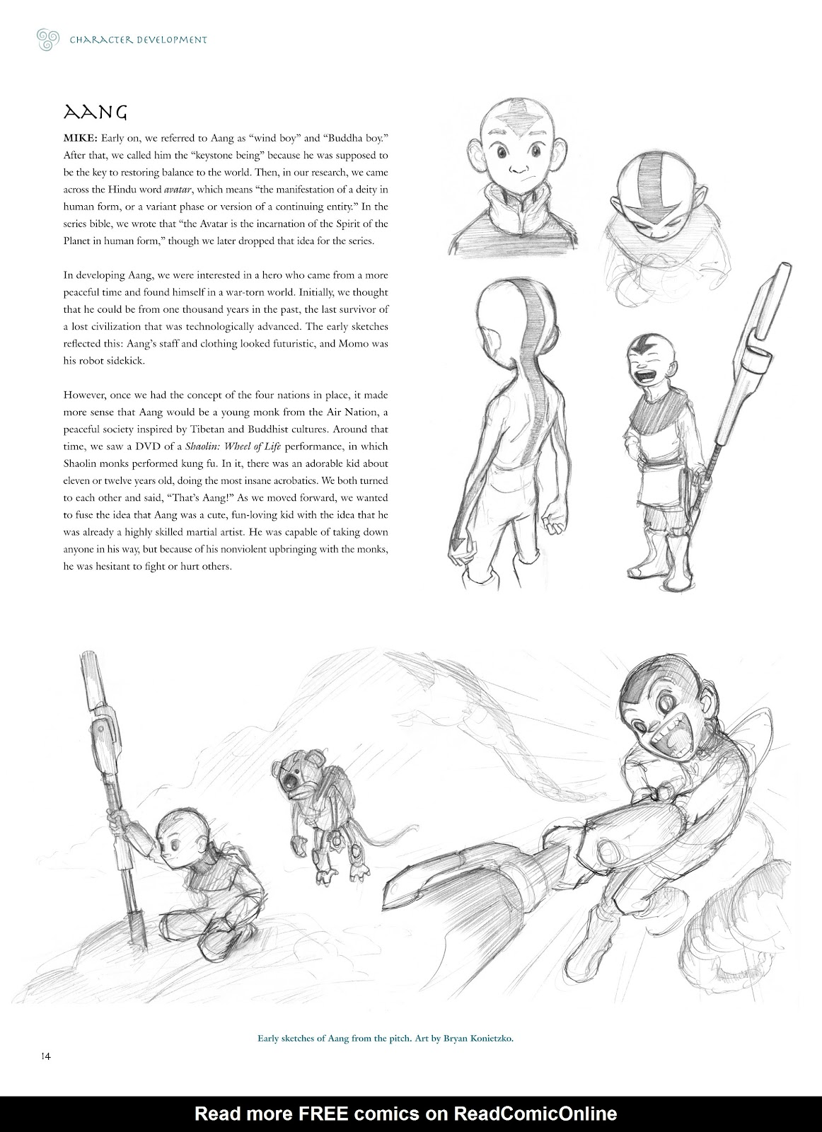 Read online Avatar: The Last Airbender - The Art of the Animated Series comic -  Issue # TPB (Part 1) - 17