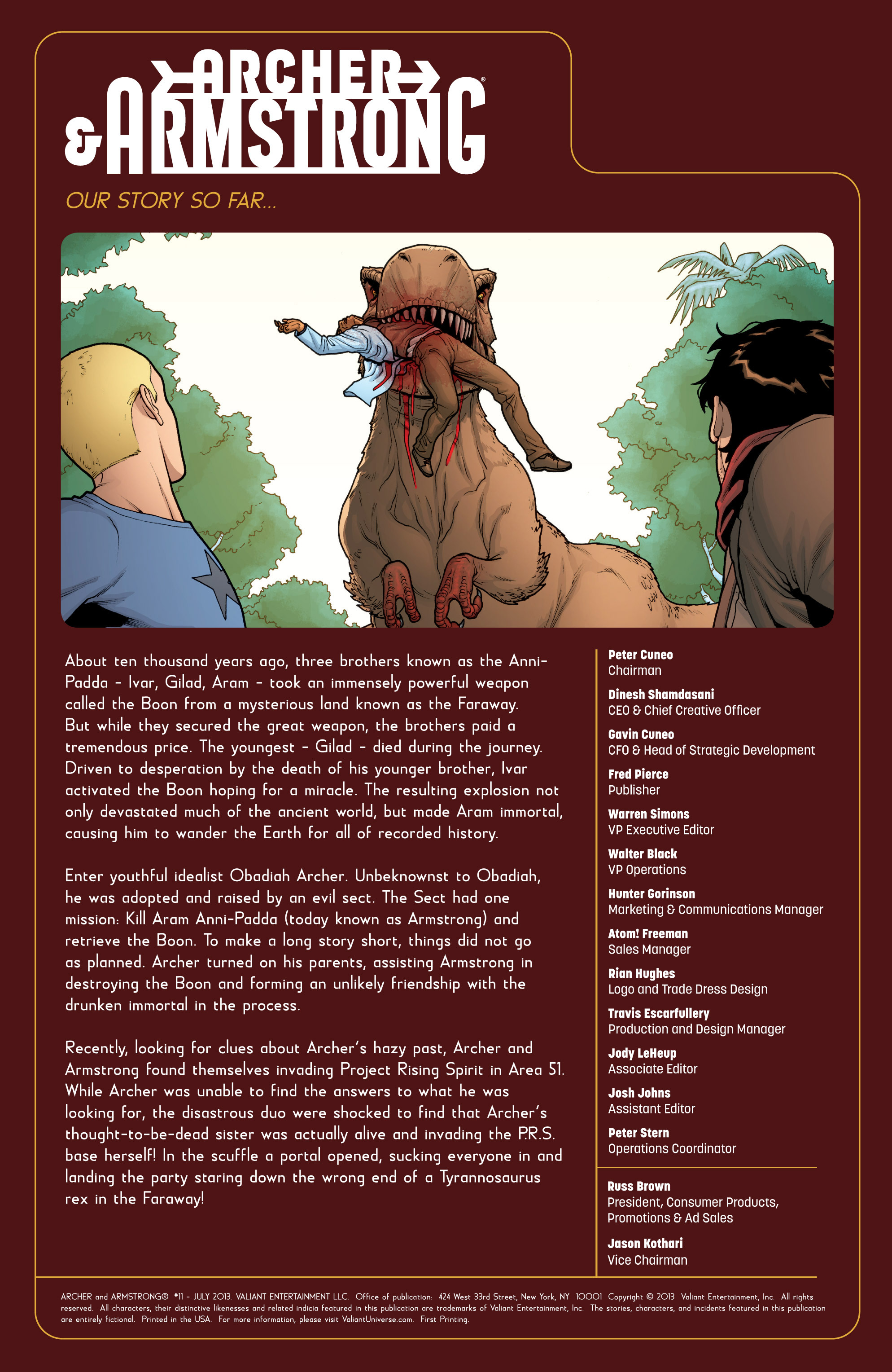 Read online Archer and Armstrong comic -  Issue #11 - 2
