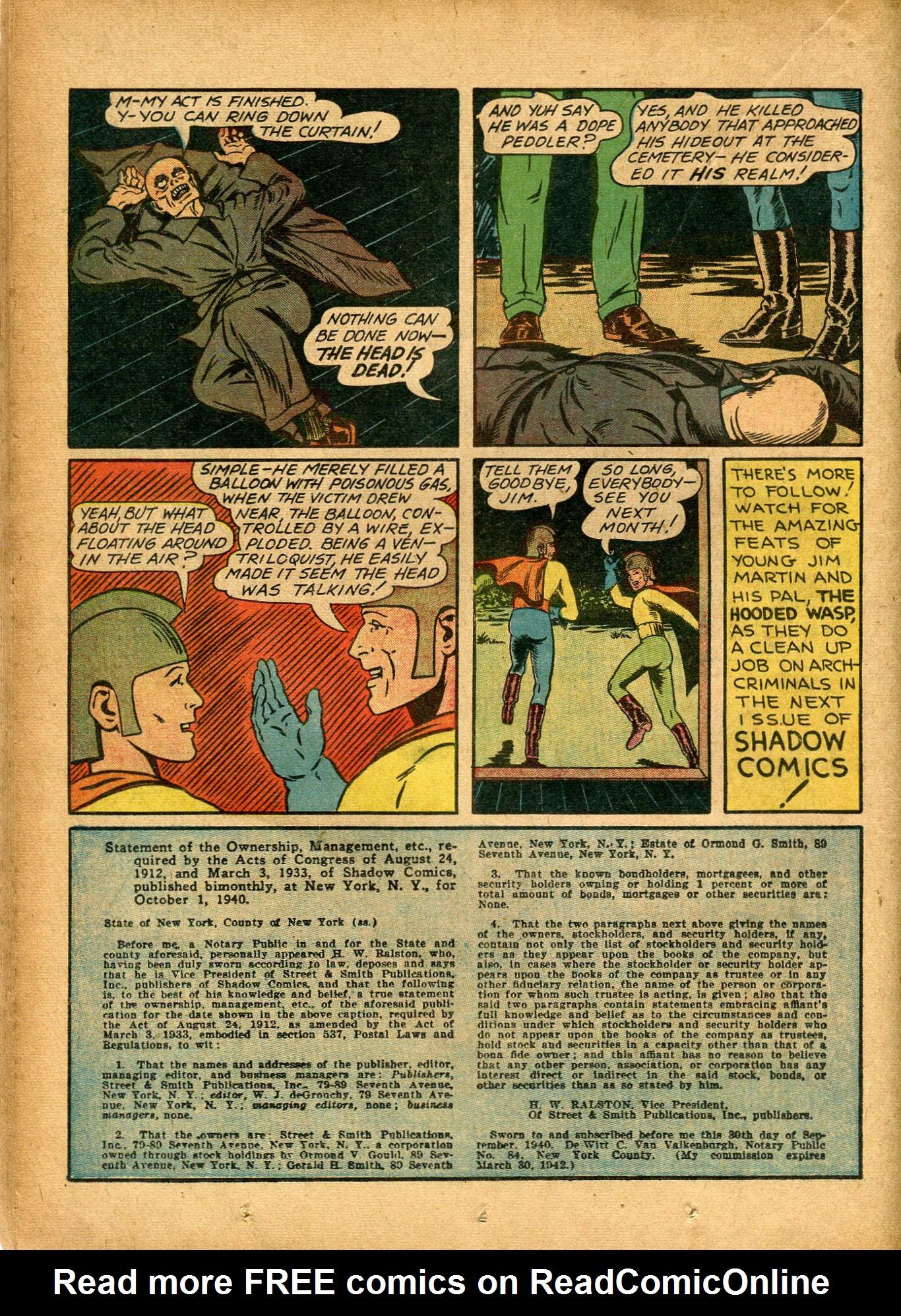 Read online Shadow Comics comic -  Issue #8 - 34