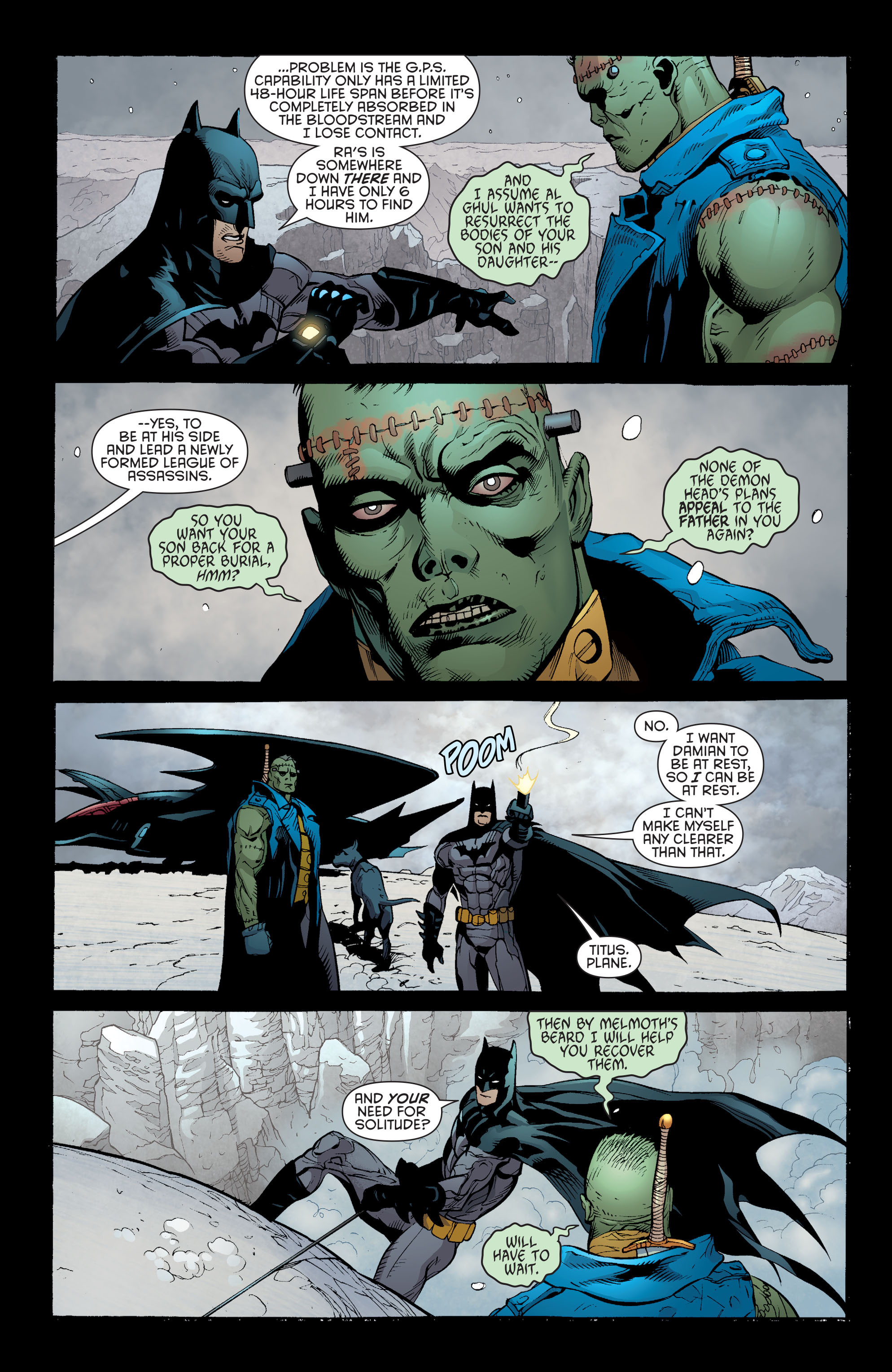 Read online Batman and Robin (2011) comic -  Issue #31 - Batman and Frankenstein - 12