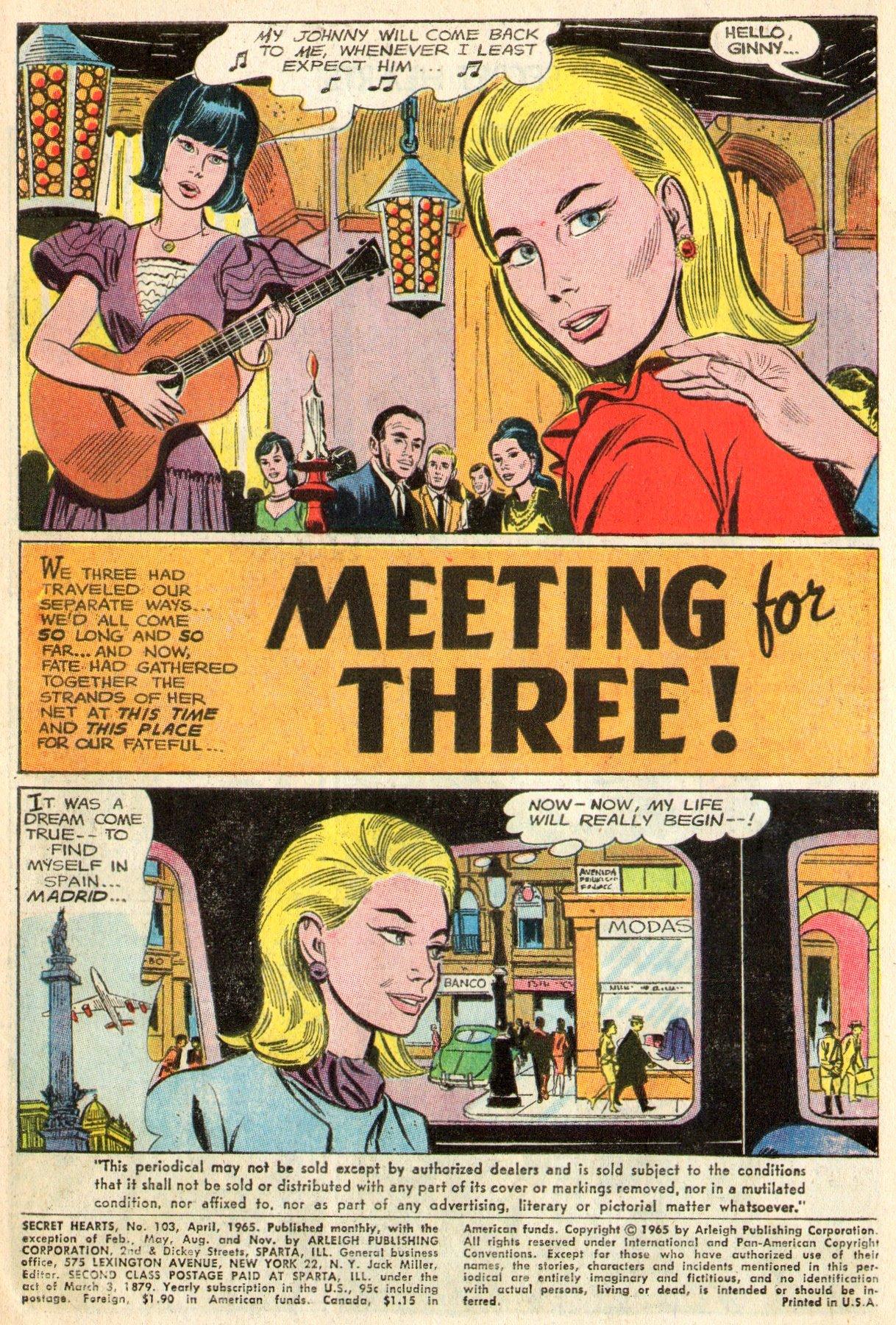 Read online Secret Hearts comic -  Issue #103 - 3