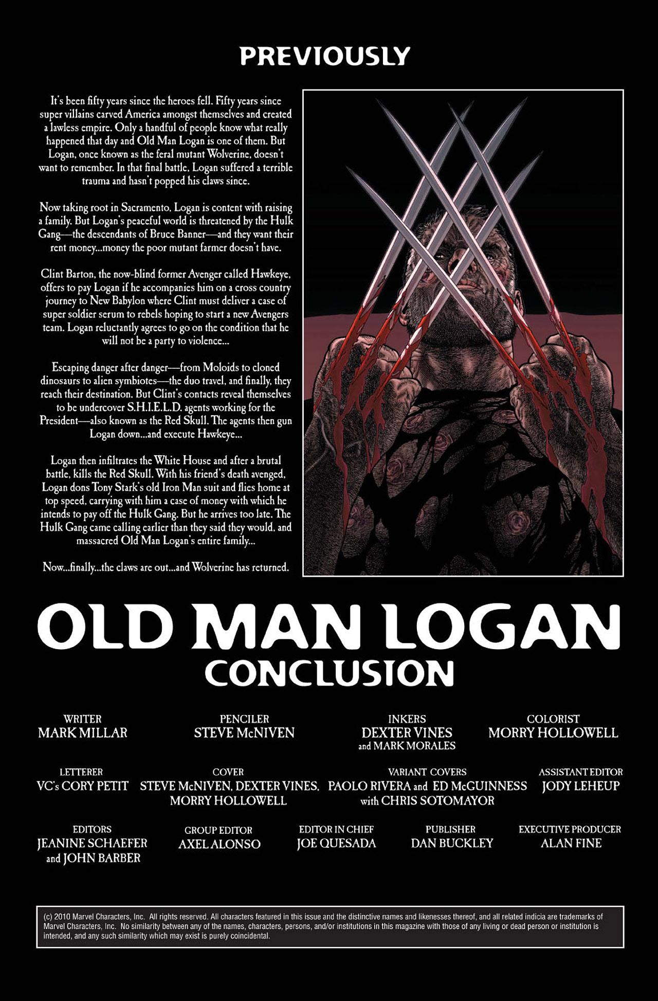 Read online Wolverine: Old Man Logan comic -  Issue # Full - 166