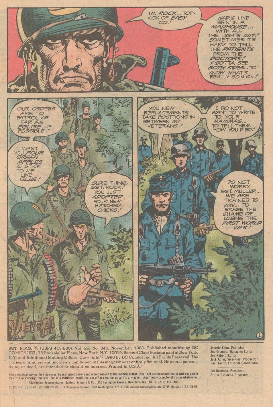 Read online Sgt. Rock comic -  Issue #346 - 2