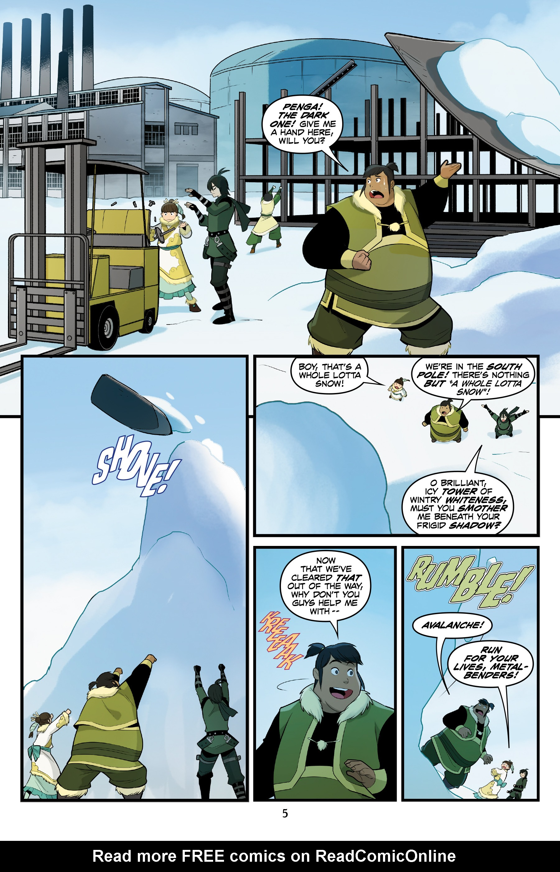 Read online Nickelodeon Avatar: The Last Airbender - North and South comic -  Issue #3 - 6