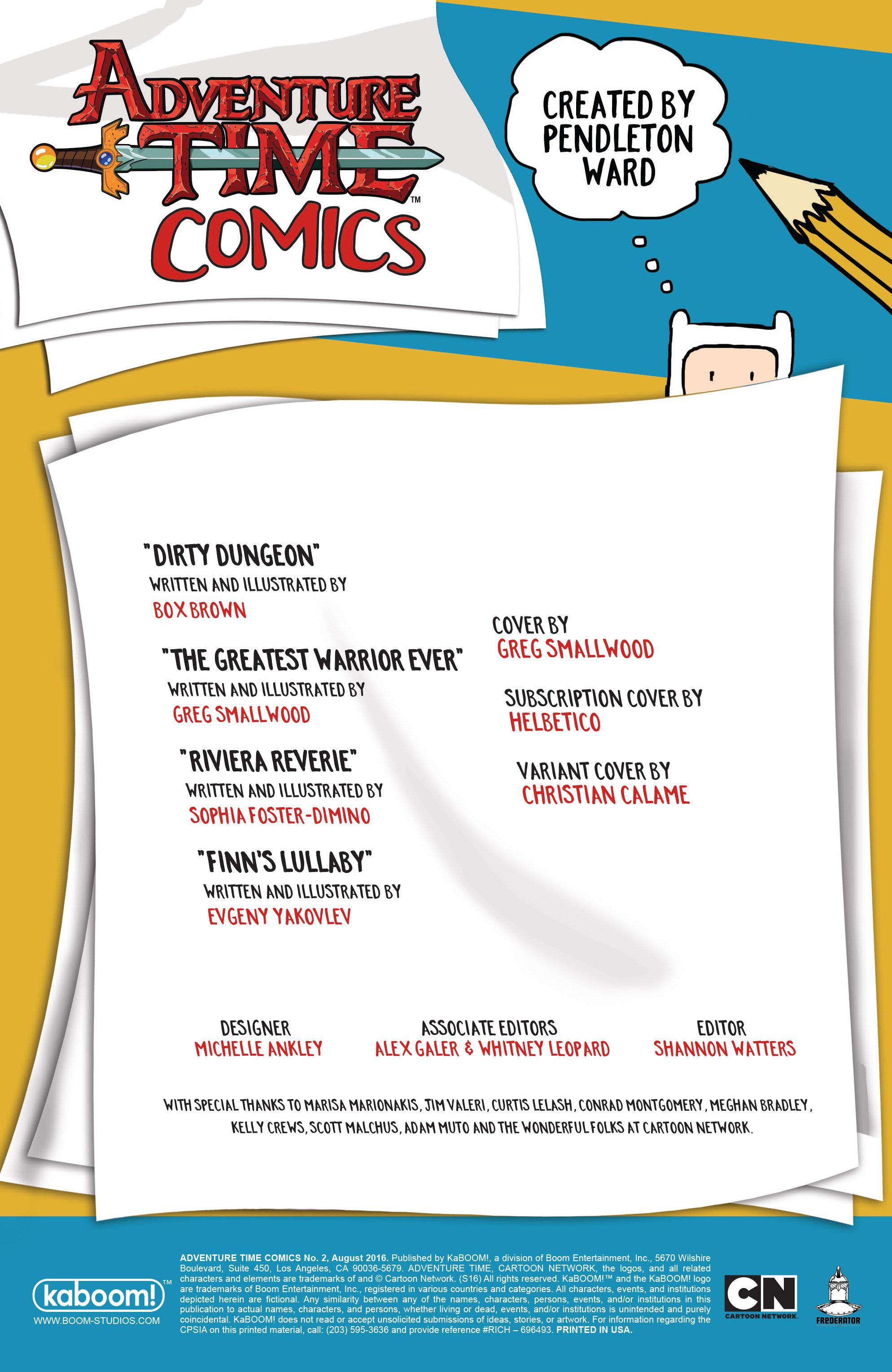 Read online Adventure Time Comics comic -  Issue #2 - 2
