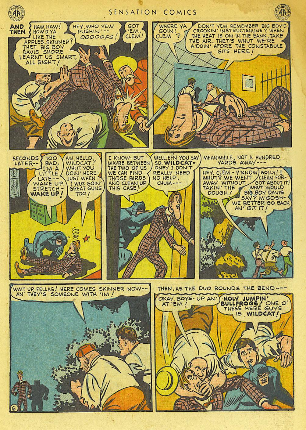 Read online Sensation (Mystery) Comics comic -  Issue #42 - 47