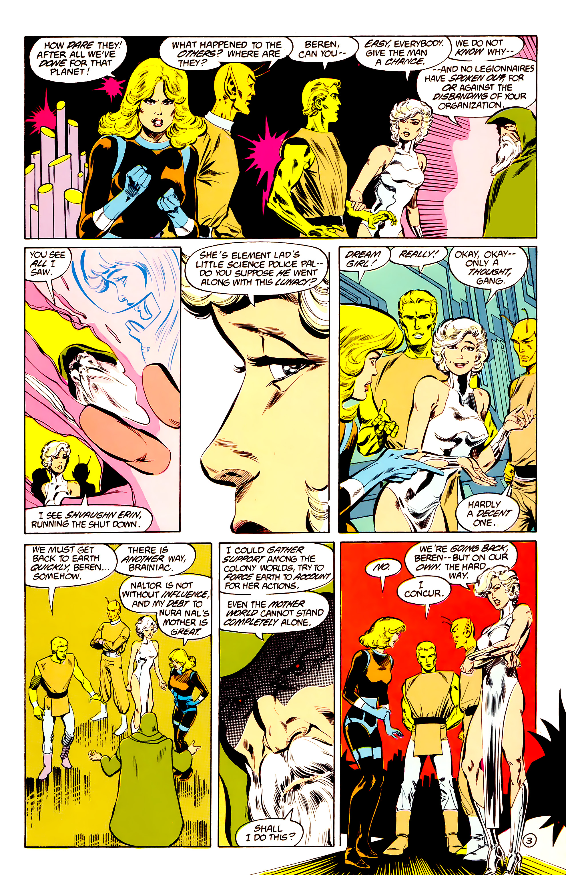 Legion of Super-Heroes (1984) 34 Page 3