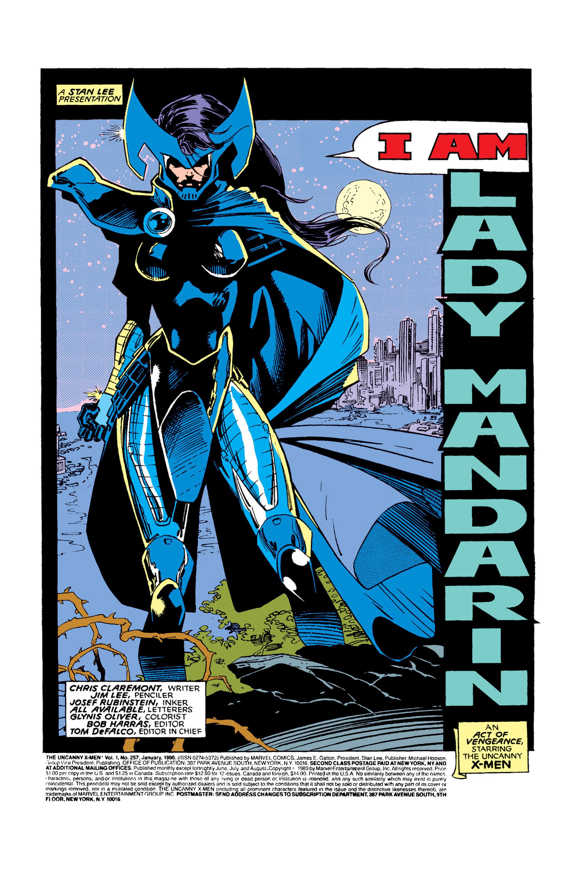 Read online Uncanny X-Men (1963) comic -  Issue #257 - 2