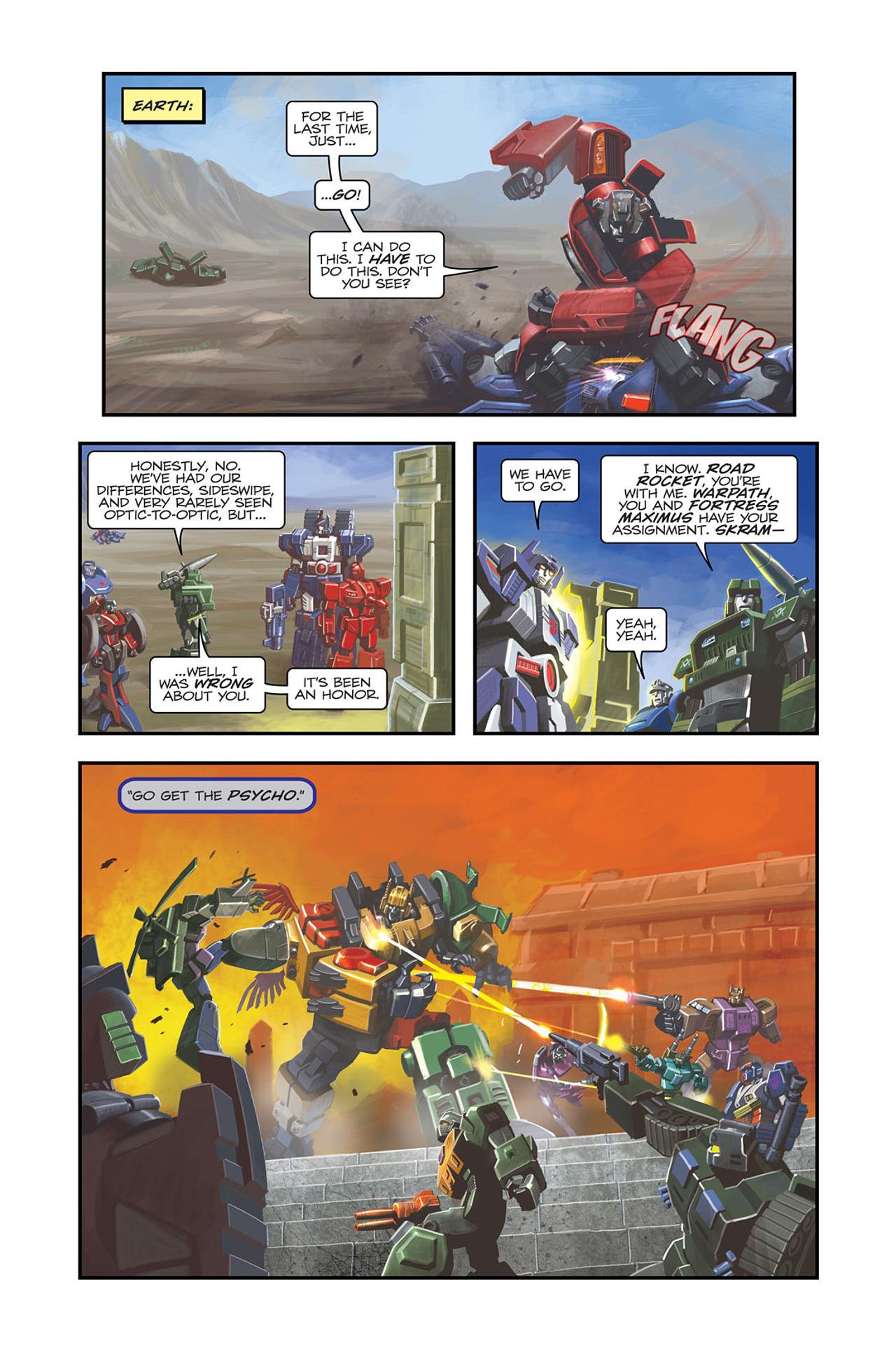Read online Transformers Spotlight: Sideswipe comic -  Issue # Full - 15