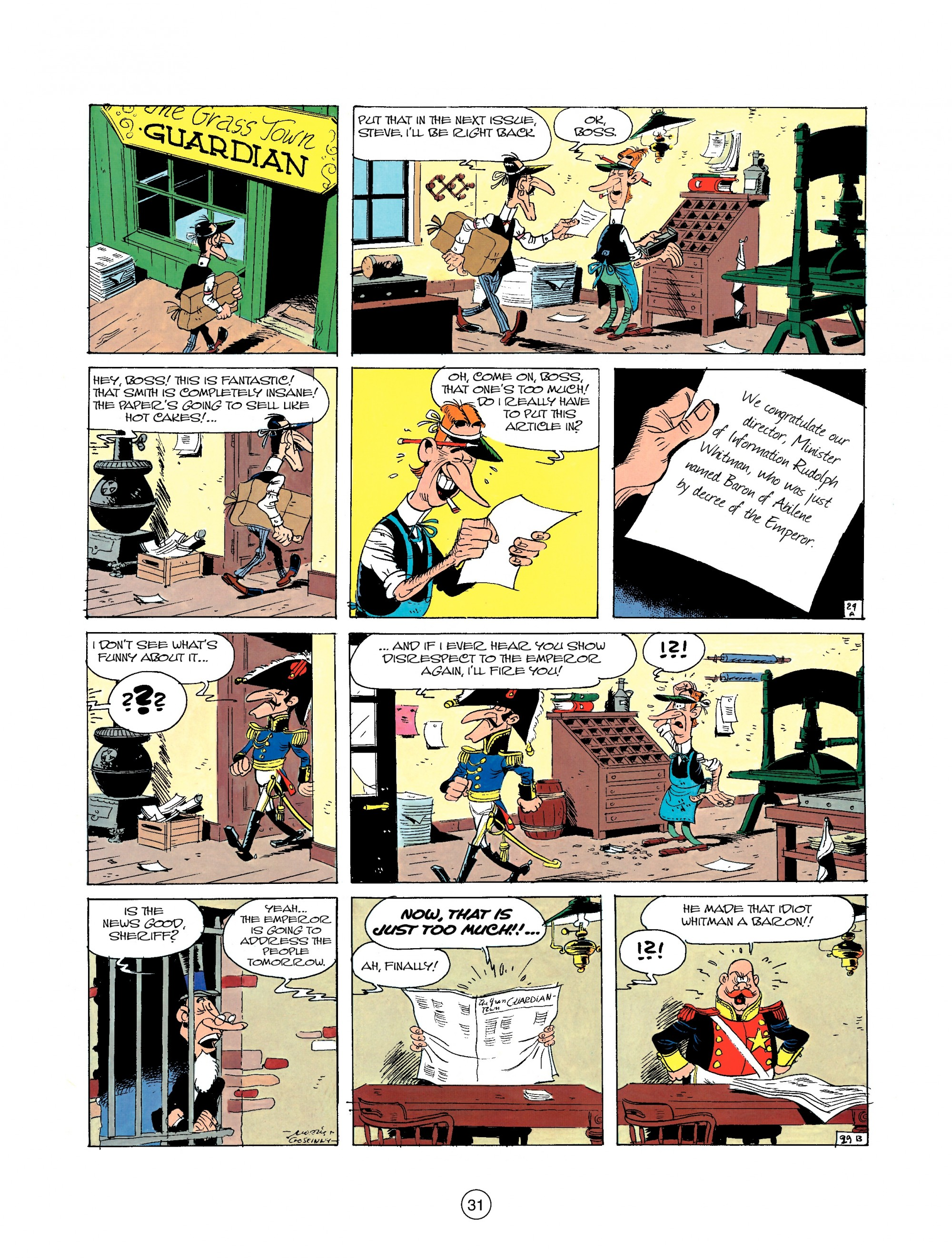 Read online A Lucky Luke Adventure comic -  Issue #22 - 31