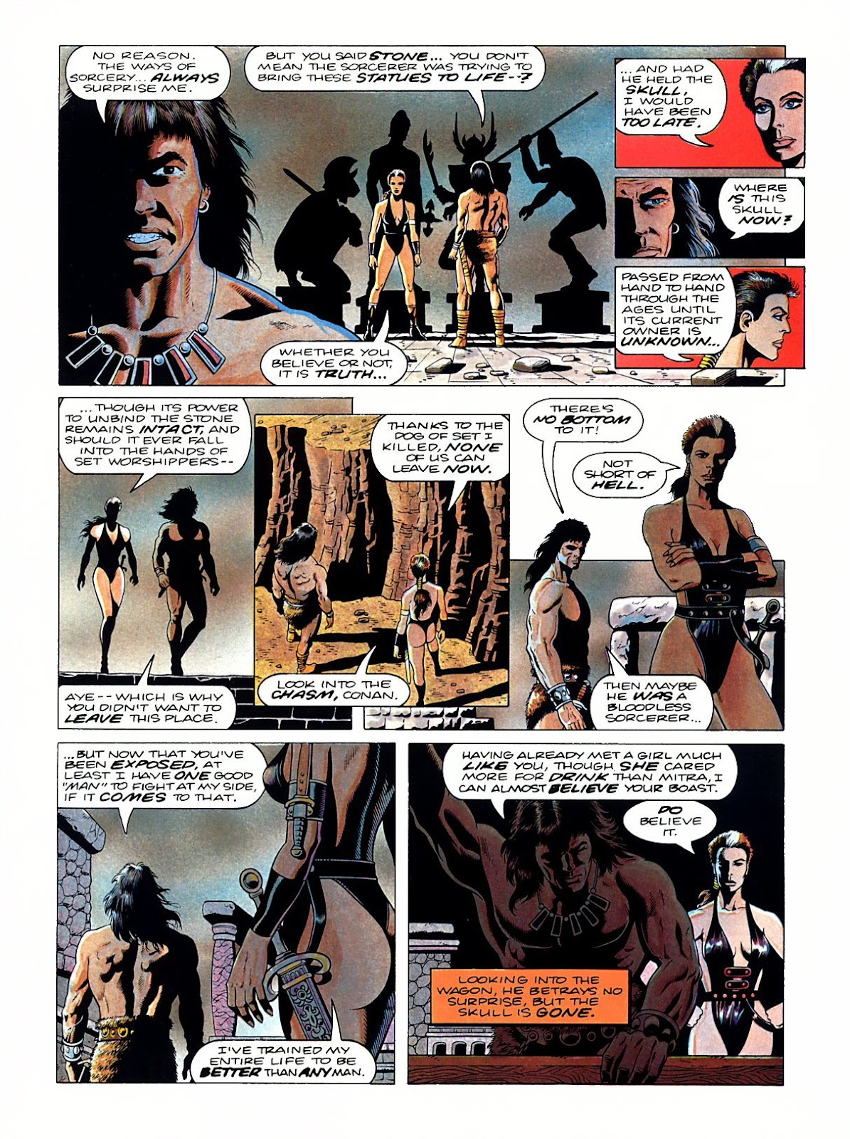Read online Marvel Graphic Novel: Conan the Barbarian: The Skull of Set comic -  Issue # Full - 41