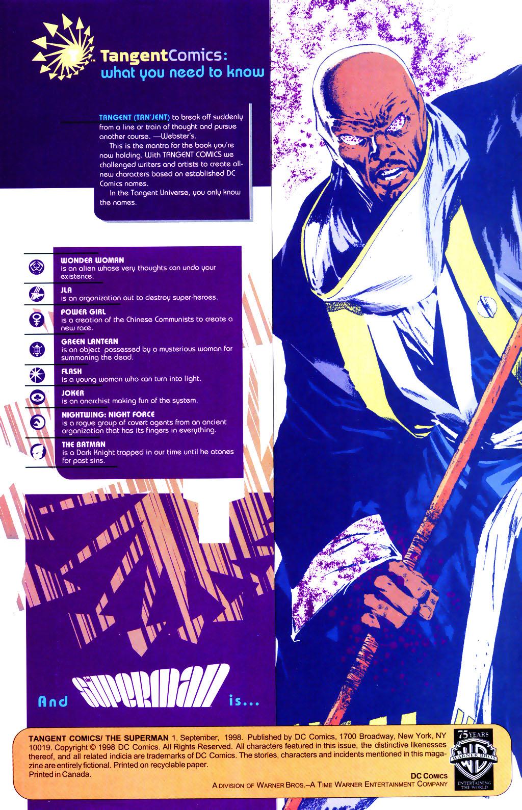 Read online Tangent Comics/ The Superman comic -  Issue # Full - 2