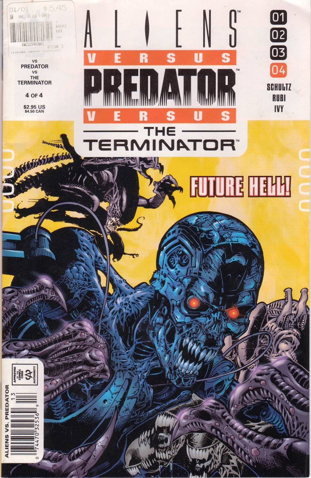 Read online Aliens vs. Predator vs. The Terminator comic -  Issue #4 - 1