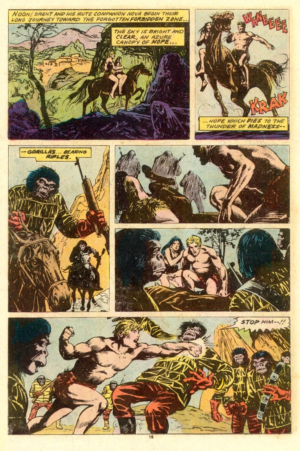 Read online Adventures on the Planet of the Apes comic -  Issue #8 - 11