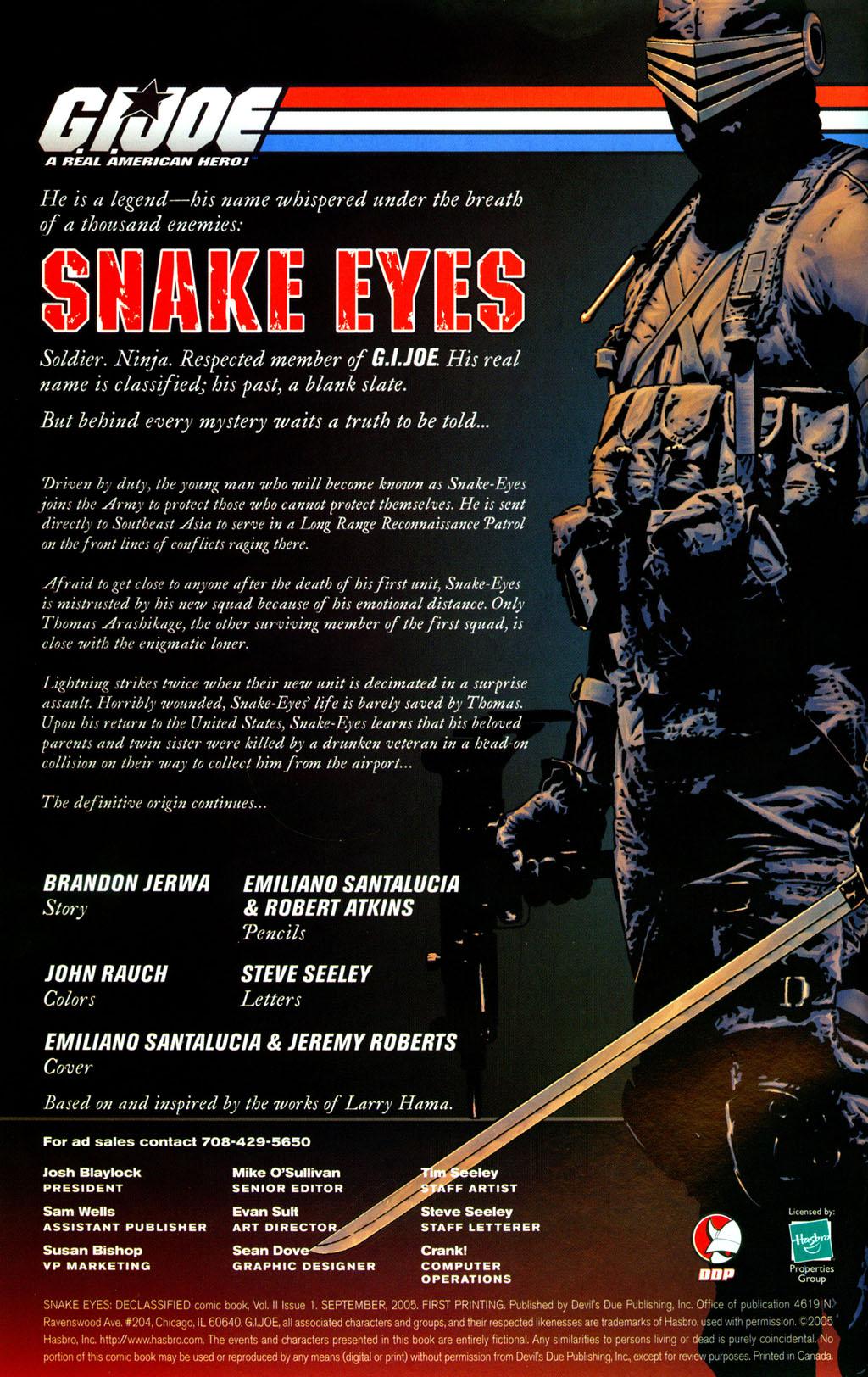 Read online Snake Eyes: Declassified comic -  Issue #2 - 2