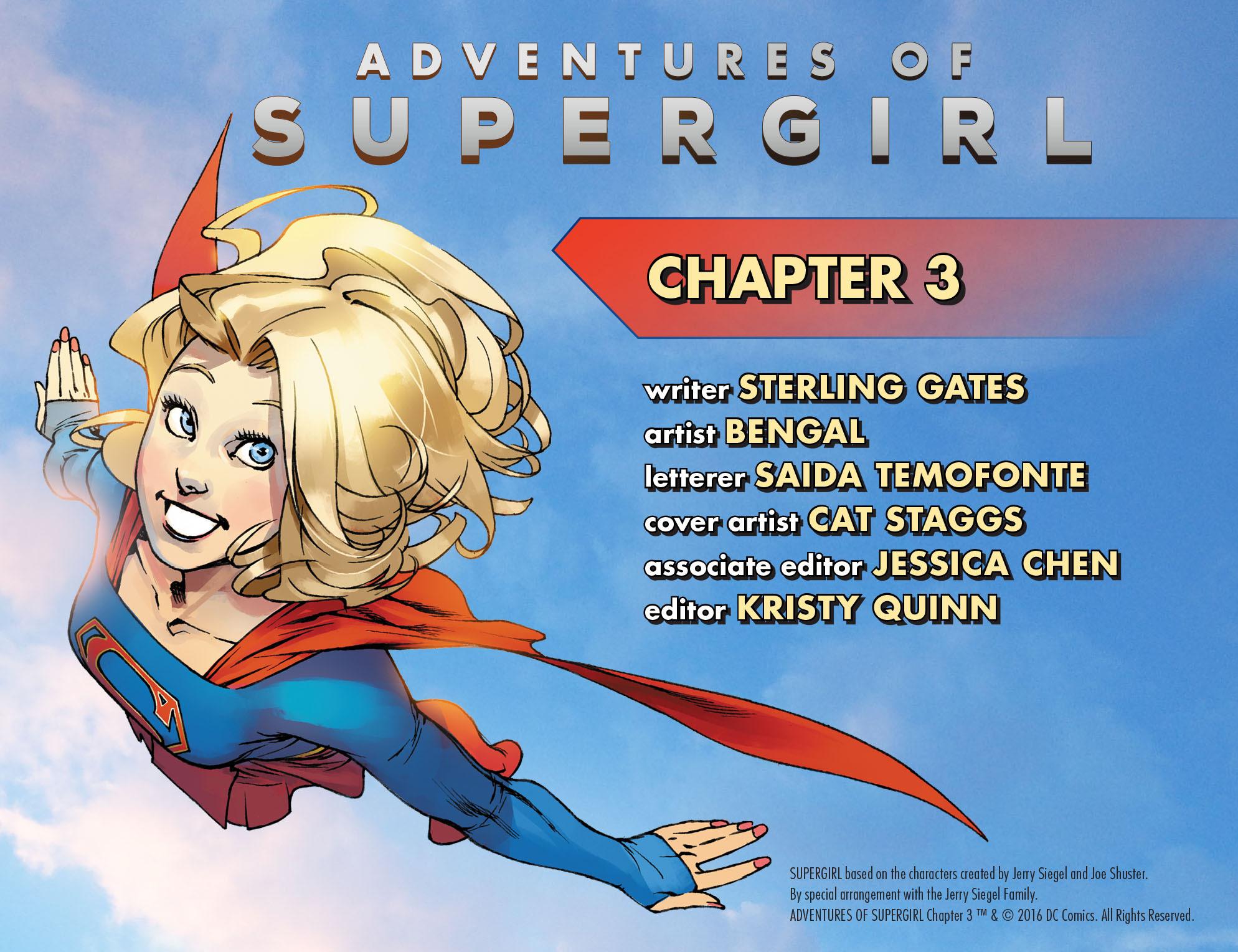 Read online Adventures of Supergirl comic -  Issue #3 - 2
