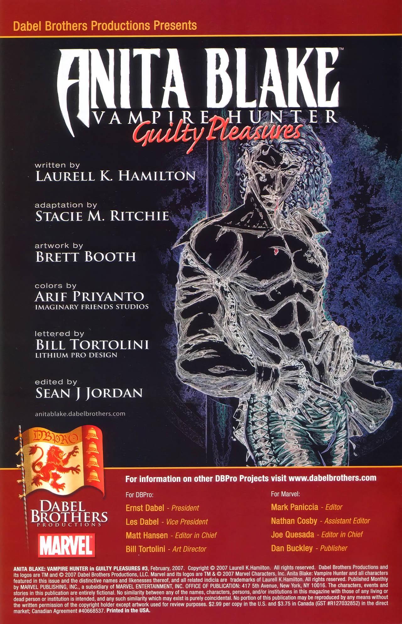 Read online Anita Blake, Vampire Hunter: Guilty Pleasures comic -  Issue #3 - 3