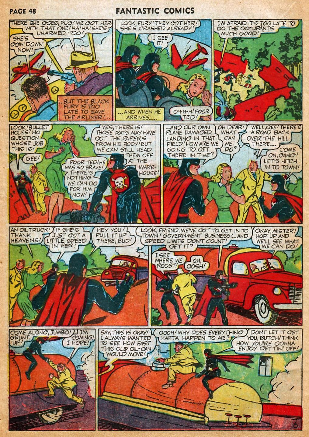 Read online Fantastic Comics comic -  Issue #22 - 49