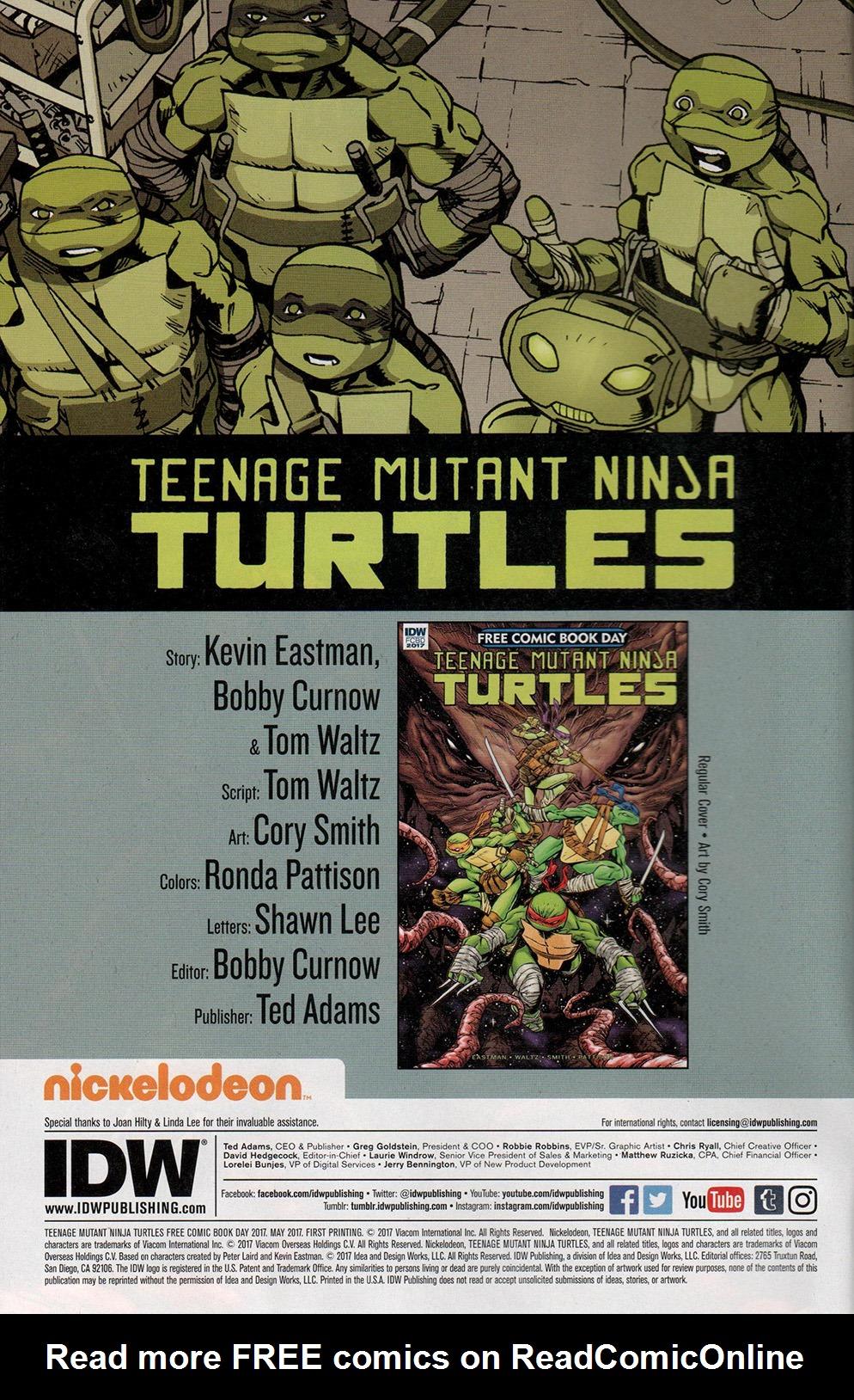 Read online Free Comic Book Day 2017 comic -  Issue # Teenage Mutant Ninja Turtles - 2