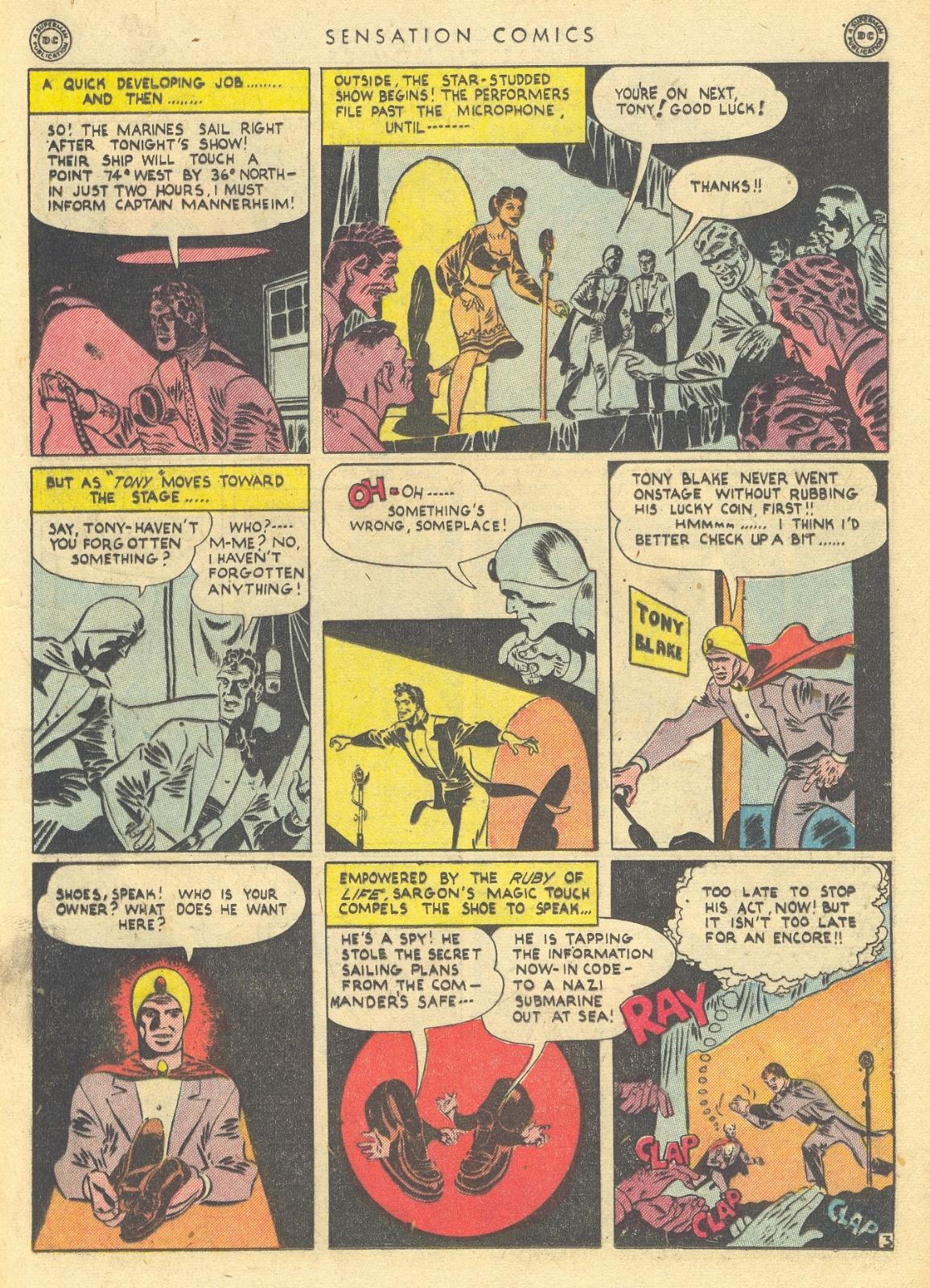 Read online Sensation (Mystery) Comics comic -  Issue #35 - 19