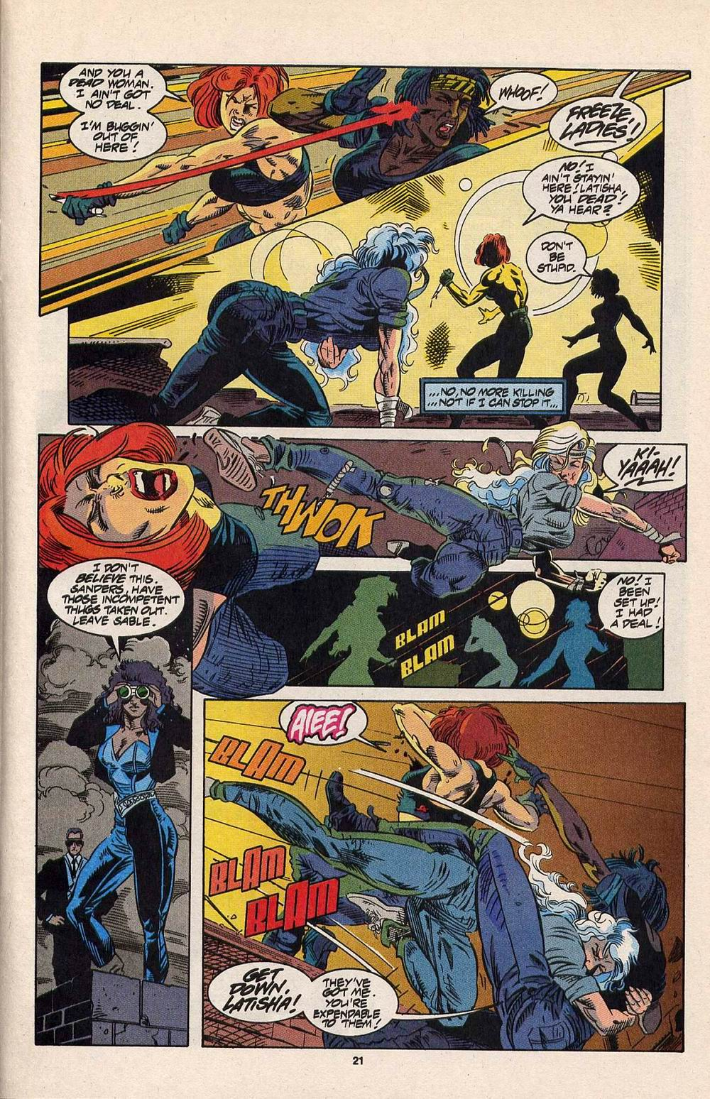 Read online Silver Sable and the Wild Pack comic -  Issue #30 - 17
