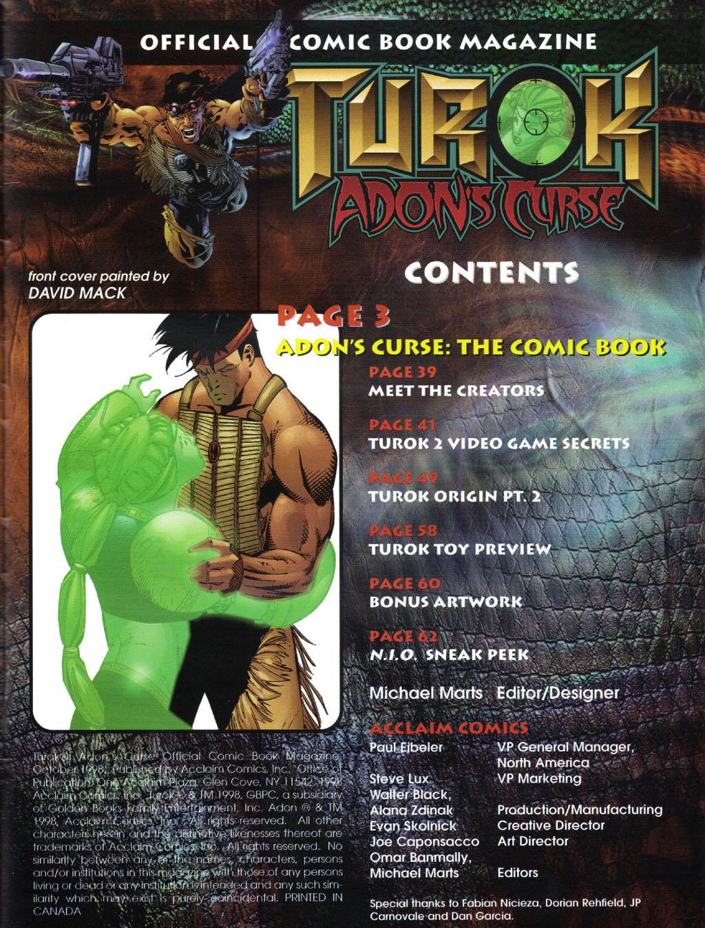Read online Turok 2: Adon's Curse comic -  Issue # Full - 2