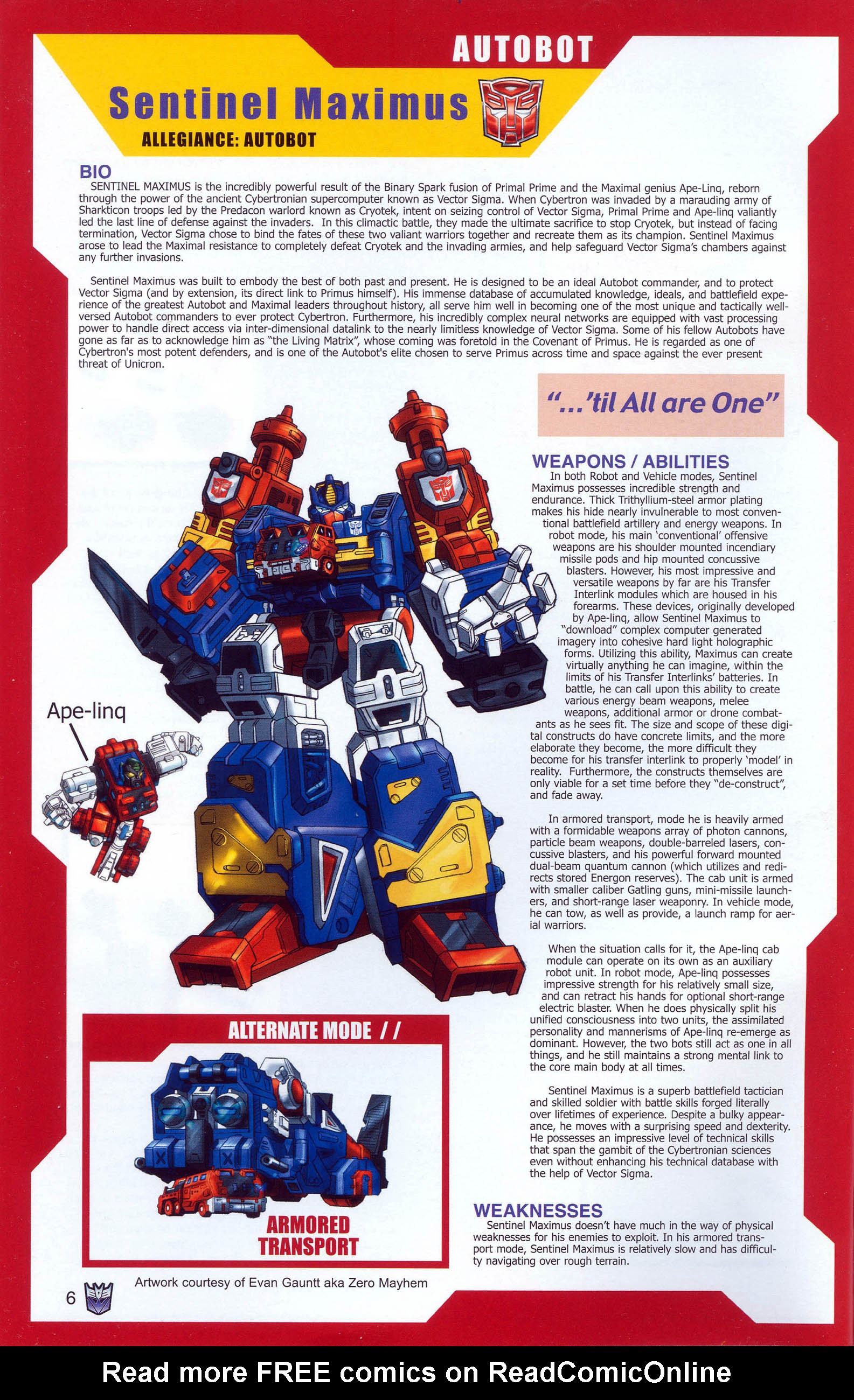 Read online Transformers: Collectors' Club comic -  Issue #7 - 6