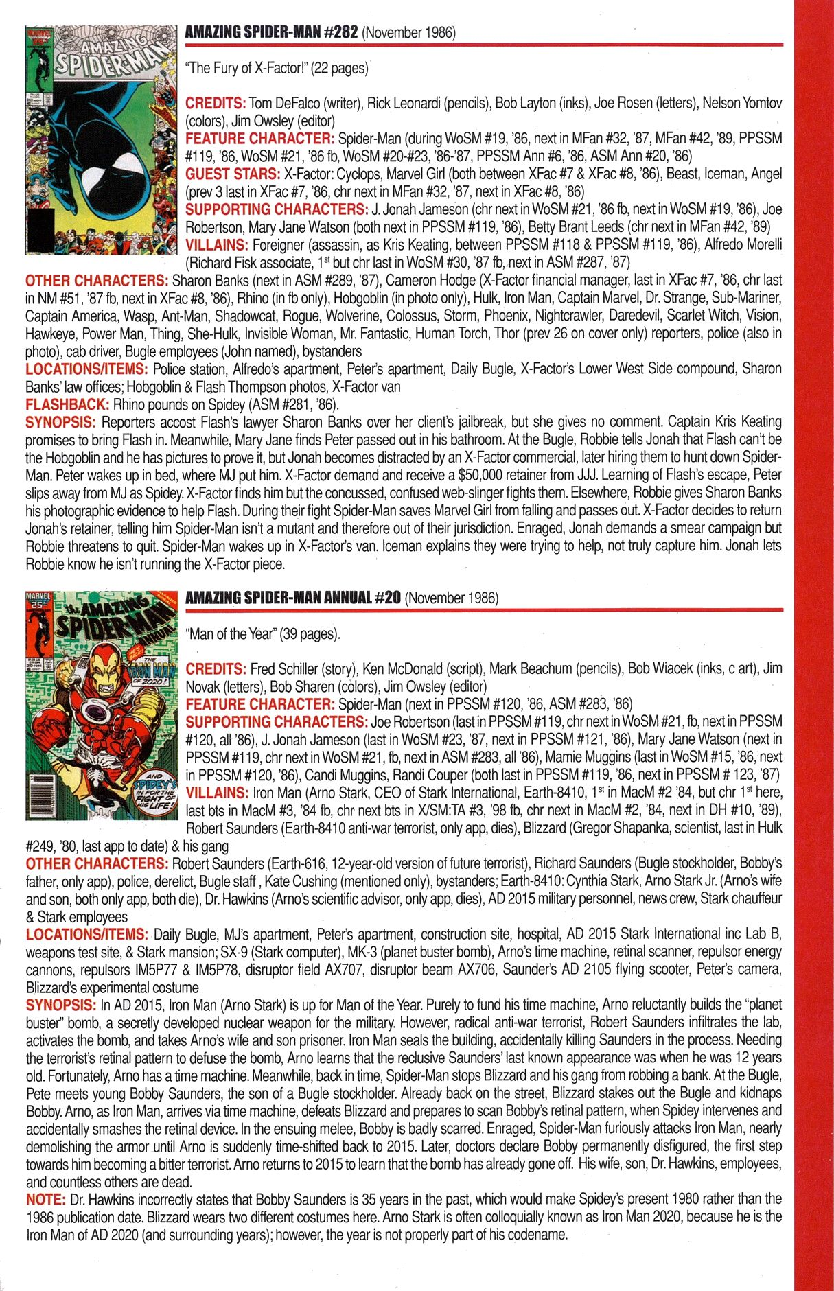 Read online Official Index to the Marvel Universe comic -  Issue #6 - 21